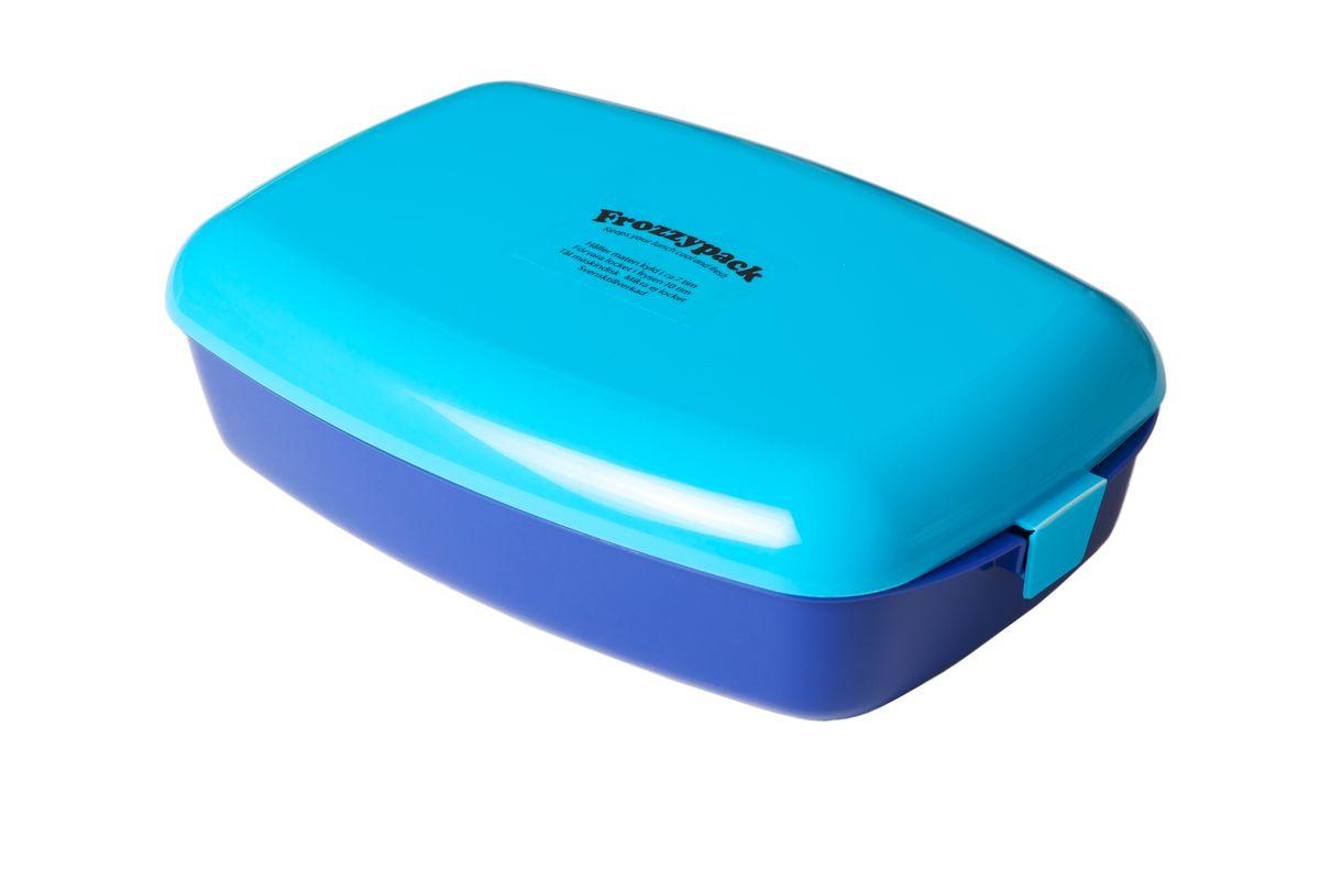 Контейнер Frozzypack, с охлаждающим элементом, цвет: синий, голубой, 1,2 л35001Контейнер Frozzypack выполнен из высококачественного пищевого пластика и не содержит BPA, PFOA и парабенов. В крышке контейнера расположен охлаждающий элемент, который поможет сохранить вашу еду прохладной в течение 7 часов при комнатной температуре. Для поддержания низкой температуры в контейнере, крышку необходимо предварительно охладить в морозильной камере в течение 10 часов. Можно мыть при температуре до 100°С и замораживать до -40°С. Подходит для посудомоечной машины. Не использовать крышку в микроволновой печи. Размер контейнера: 24,5 см х 15,5 см. Высота стенок контейнера: 5 см.