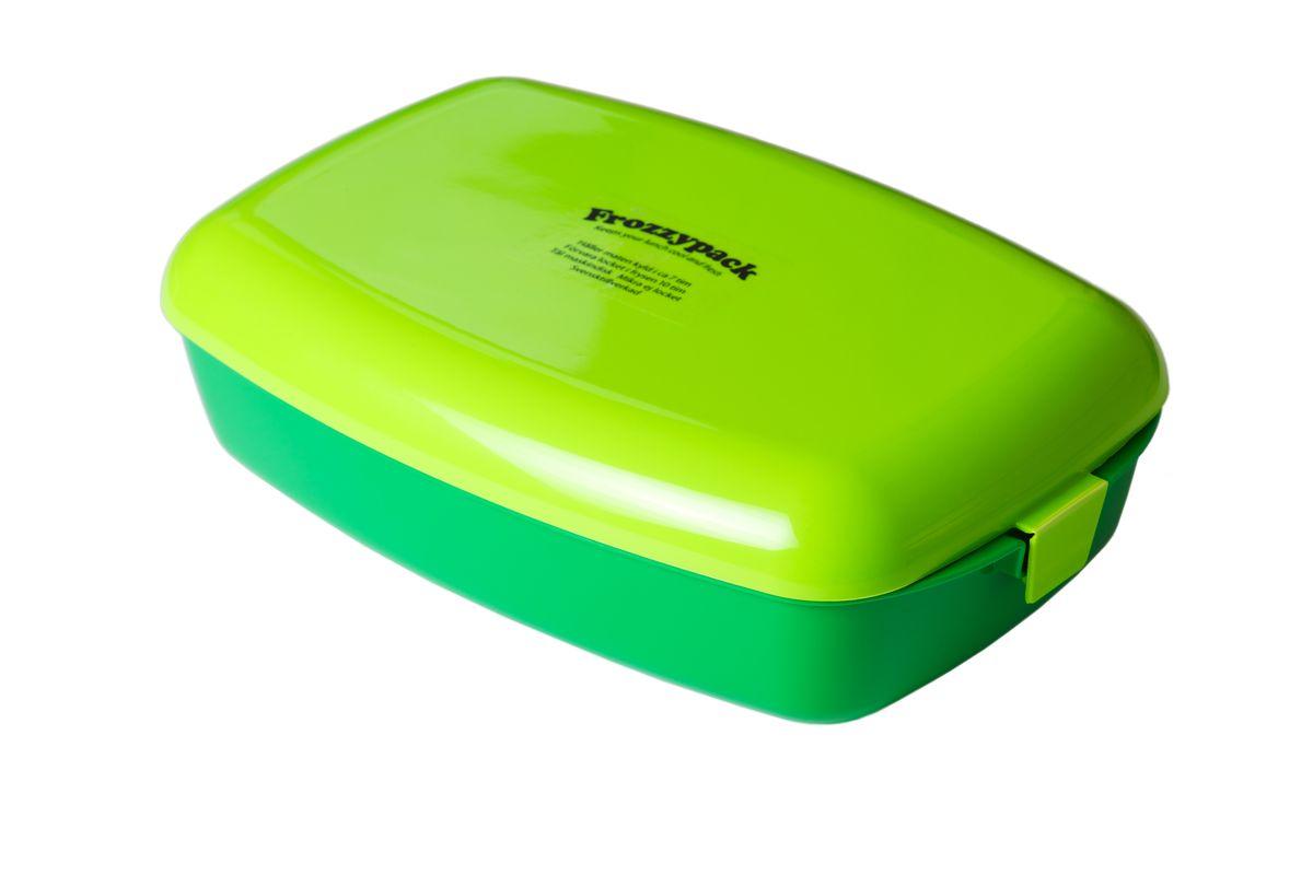 Контейнер Frozzypack, с охлаждающим элементом, цвет: зеленый, салатовый, 1,2 л35002Контейнер Frozzypack выполнен из высококачественного пищевого пластика и не содержит BPA, PFOA и парабенов. В крышке контейнера расположен охлаждающий элемент, который поможет сохранить вашу еду прохладной в течение 7 часов при комнатной температуре. Для поддержания низкой температуры в контейнере, крышку необходимо предварительно охладить в морозильной камере в течение 10 часов. Можно мыть при температуре до 100°С и замораживать до -40°С. Подходит для посудомоечной машины. Не использовать крышку в микроволновой печи. Размер контейнера: 24,5 см х 15,5 см. Высота стенок контейнера: 5 см.