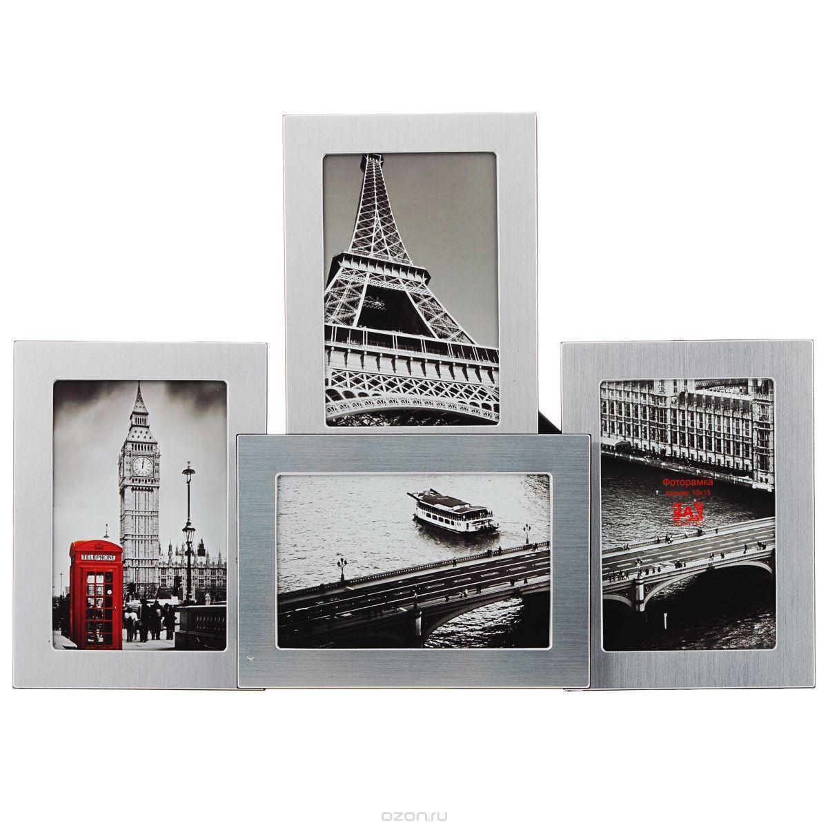 Фоторамка Image Art, на 4 фото, 10 см х 15 см. 6019/4-4S6019/4-4SФоторамка Image Art - прекрасный способ красиво оформить ваши фотографии. Фоторамка выполнена из пластика и защищена стеклом, предназначена для четырех фотографий с вертикальным и горизонтальным расположением. Фоторамку можно поставить на стол с помощью специальной ножки или подвесить на стену, для чего с задней стороны предусмотрены отверстия. Такая фоторамка поможет сохранить на память самые яркие моменты вашей жизни, а стильный дизайн сделает ее прекрасным дополнением интерьера комнаты.