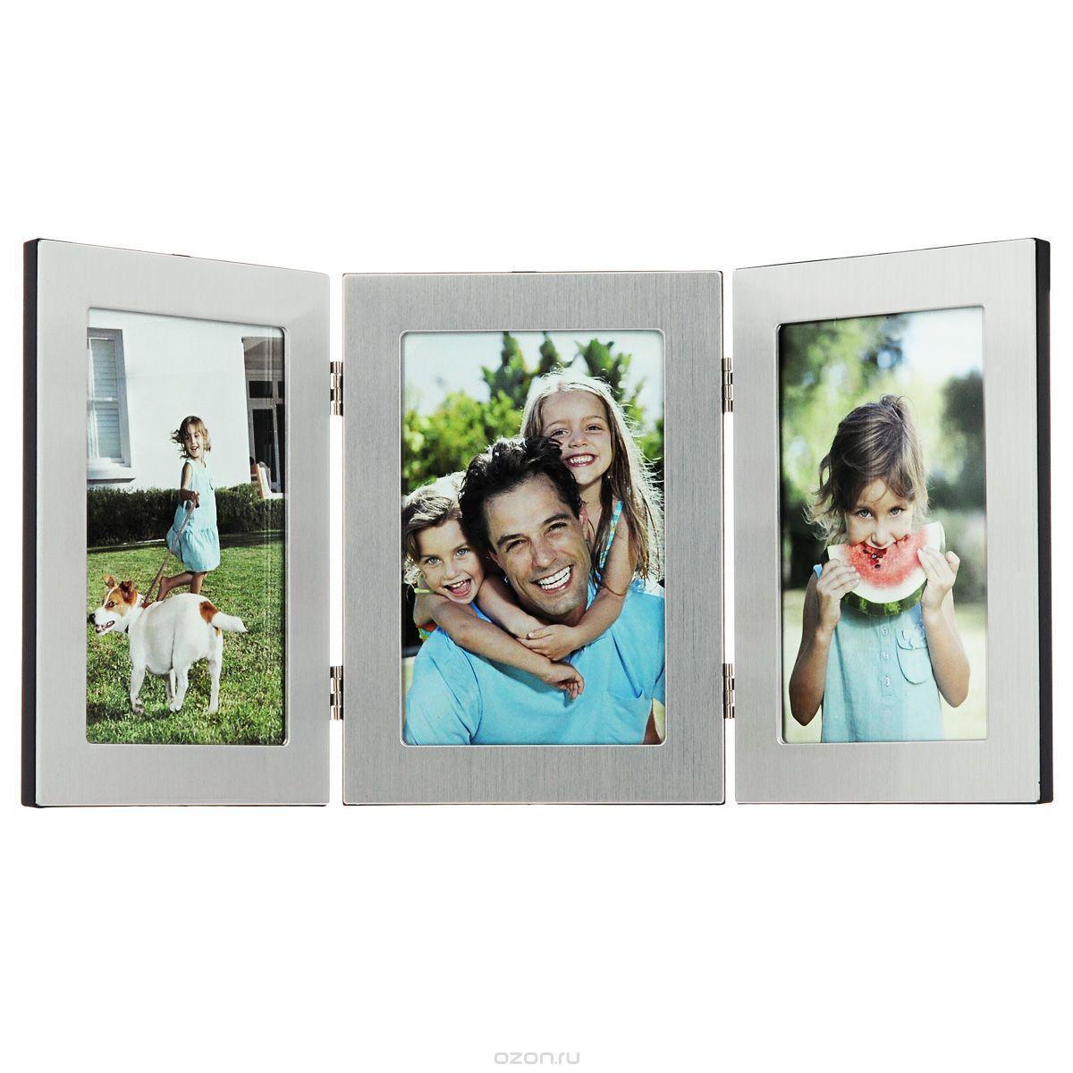 Фоторамка Image Art, на 3 фото, 10 см х 15 см6047/3-4SФоторамка Image Art - прекрасный способ красиво оформить ваши фотографии. Фоторамка выполнена из пластика и защищена стеклом. Фоторамку можно поставить на стол или подвесить на стену, для чего с задней стороны предусмотрены специальные отверстия. Такая фоторамка поможет сохранить на память самые яркие моменты вашей жизни, а стильный дизайн сделает ее прекрасным дополнением интерьера комнаты.
