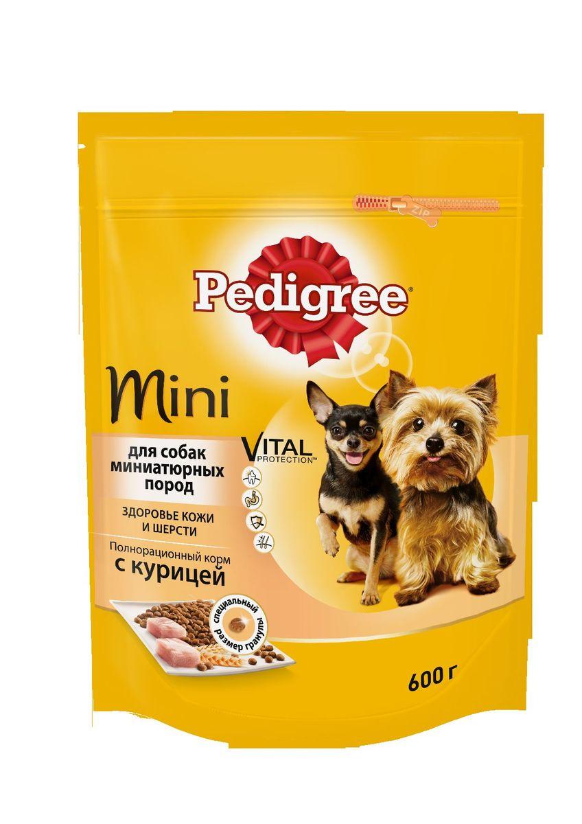 Корм сухой Pedigree для взрослых собак миниатюрных пород, с курицей, 600 г40156Сухой корм Pedigree для собак миниатюрных пород - это полнорационный корм с курицей, который создан с учетом потребностей. Он состоит из качественных и натуральных ингредиентов: мяса, овощей, злаков. Корм создан с учетом особенностей пищеварения самых маленьких, легко усваивается и обеспечивает правильную работу их желудочно-кишечного тракта. Состав: куриная мука, пшеничная мука, кукуруза, рис, мясная мука, жир животный, пшеница, свекольный жом, подсолнечное масло, минералы, витамины, метионин. Пищевая ценность (100 г): белки 22 г., жиры 15 г., зола 8 г., клетчатка 4 г., влажность не более 10 г., кальций 1,3 г., фосфор 0,8 г., натрий 0,3 г., калий 0,58 г., магний 0,1 г., цинк 20 г., медь 1,5 г., витамин А 1500 МЕ, витамин Е 20 мг., витамин D3 120 МЕ, витамин В1, В2, В4, В5, В12., ниацин, омега-6, омега-3, полиненасыщенные жирные кислоты. Энергетическая ценность (100 г): 365 ккал. Вес упаковки: 600 г. Товар сертифицирован.
