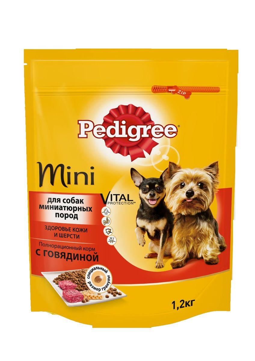 Корм сухой Pedigree для взрослых собак миниатюрных пород, с говядиной, 1,2 кг40157Сухой корм Pedigree для собак миниатюрных пород - это полнорационный корм с курицей, который создан с учетом потребностей. Он состоит из качественных и натуральных ингредиентов: мяса, овощей, злаков. Он создан с учетом особенностей пищеварения самых маленьких, легко усваивается и обеспечивает правильную работу их желудочно-кишечного тракта. Состав: куриная мука, пшеничная мука, кукуруза, рис, мясная мука (в том числе говядина минимум 4%), жир животный, пшеница, свекольный жом, подсолнечное масло, минералы, витамины, метионин. Пищевая ценность (100 г): белки 22 г., жиры 15 г., зола 8 г., клетчатка 4 г., влажность не более 10 г., кальций 1,3 г., фосфор 0,8 г., натрий 0,3 г., калий 0,58 г., магний 0,1 г., цинк 20 г., медь 1,5 г., витамин А 1500 МЕ, витамин Е 20 мг., витамин D3 120 МЕ, витамин В1, В2, В4, В5, В12., ниацин, омега-6, омега-3, полиненасыщенные жирные кислоты. Энергетическая ценность (100 г): 365 ккал. Вес упаковки: 1,2 кг. Товар...