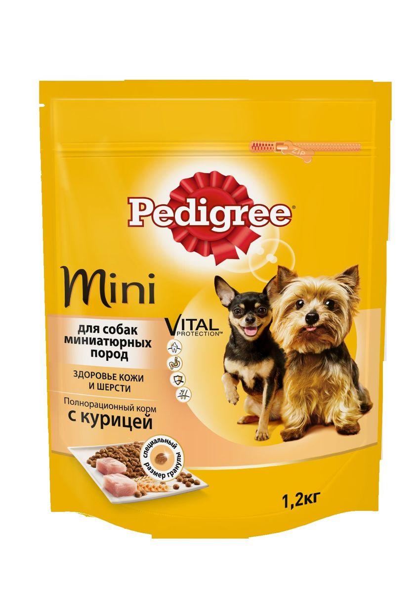 Корм сухой Pedigree для взрослых собак миниатюрных пород, с курицей 1,2 кг40158Сухой корм Pedigree для собак миниатюрных пород - это полнорационный корм с курицей, который создан с учетом потребностей. Он состоит из качественных и натуральных ингредиентов: мяса, овощей, злаков. Корм создан с учетом особенностей пищеварения самых маленьких, легко усваивается и обеспечивает правильную работу их желудочно-кишечного тракта. Состав: куриная мука, пшеничная мука, кукуруза, рис, мясная мука, жир животный, пшеница, свекольный жом, подсолнечное масло, минералы, витамины, метионин. Пищевая ценность (100 г): белки 22 г., жиры 15 г., зола 8 г., клетчатка 4 г., влажность не более 10 г., кальций 1,3 г., фосфор 0,8 г., натрий 0,3 г., калий 0,58 г., магний 0,1 г., цинк 20 г., медь 1,5 г., витамин А 1500 МЕ, витамин Е 20 мг., витамин D3 120 МЕ, витамин В1, В2, В4, В5, В12., ниацин, омега-6, омега-3, полиненасыщенные жирные кислоты. Энергетическая ценность (100 г): 365 ккал. Вес упаковки: 1,2 кг. Товар сертифицирован.