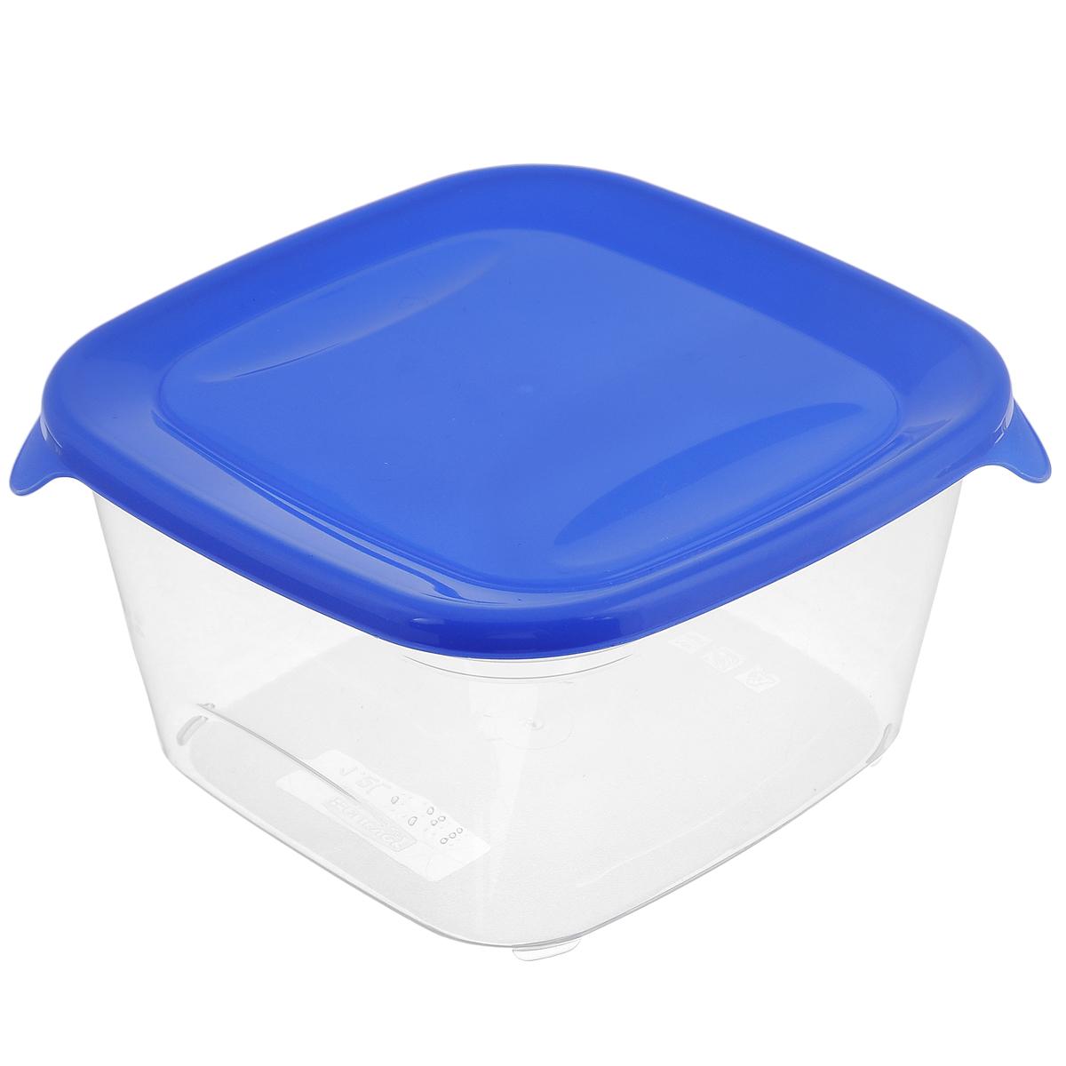 Емкость для заморозки и СВЧ Curver Fresh & Go, цвет: синий, 1,2 л00560-139-01Квадратная емкость для заморозки и СВЧ Curver Fresh & Go изготовлена из высококачественного пищевого пластика (BPA free), который выдерживает температуру от -40°С до +100°С. Стенки емкости прозрачные, а крышка цветная. Она плотно закрывается, дольше сохраняя продукты свежими и вкусными. Емкость удобно брать с собой на работу, учебу, пикник или просто использовать для хранения пищи в холодильнике. Можно использовать в микроволновой печи и для заморозки в морозильной камере. Можно мыть в посудомоечной машине.