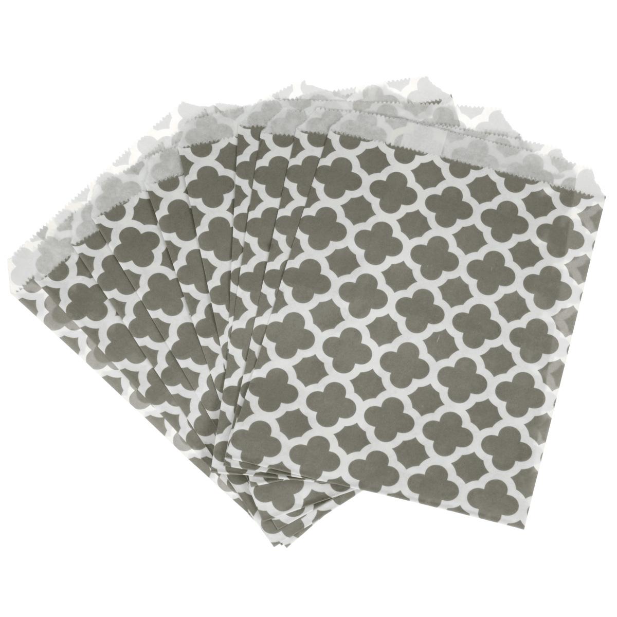 """Пакеты бумажные Dolce Arti """"Arabesque"""", для выпекания, цвет: серый, 10 шт"""