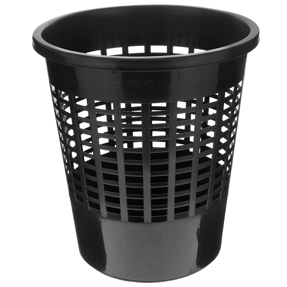 Корзина для бумаг Curver Basics, цвет: черный, высота 30 см04022-101-66Корзина Curver Basics выполнена из пластика и предназначена для сбора мелкого мусора и бумаг. Стенки корзины оформлены перфорацией. Корзина впишется в интерьер гостиной, спальни, офиса или кабинета. Диаметр корзины: 27 см. Высота корзины: 30 см.