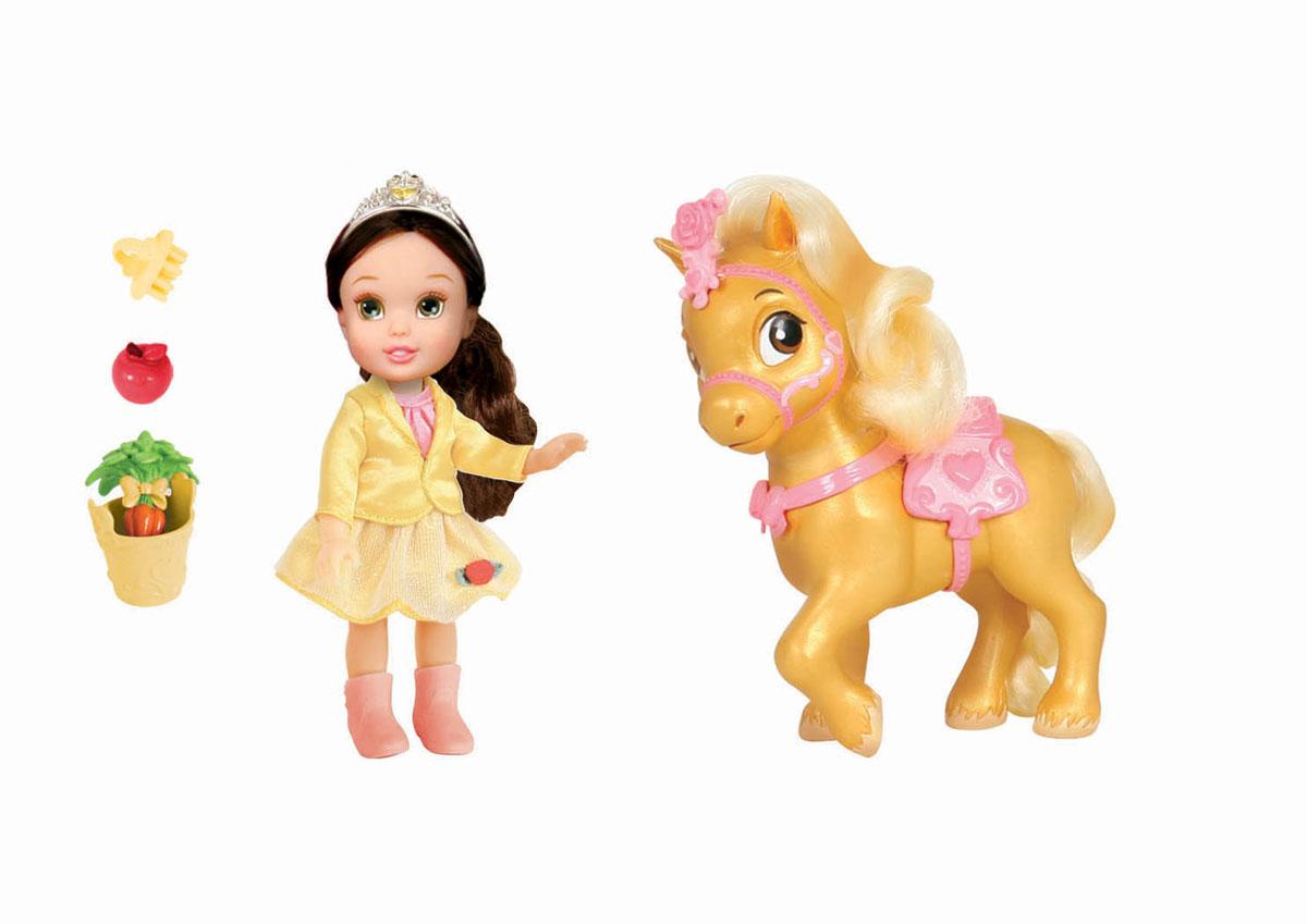 Disney Princess Игровой набор с мини-куклой Малышка и конь755060Кукла Disney Princess Малышка - прекрасная принцесса, которая обязательно понравится вашей дочурке. В ассортименте Золушка, Рапунцель, Мерида и Белль. Туловище куклы выполнено из высококачественного пластика; голова, ручки и ножки подвижны. Принцесса одета в красивый наряд, на ножках сапожки. Кукла имеет длинные мягкие волосы, которые можно заплетать в различные прически. На голове королевская тиара. У принцессы есть своя лошадка, на которой она в любой момент может прокатиться. У лошадки красивая густая грива, которую нужно расчесывать с помощью специального гребешка. Яркая сбруя и седло подходят по тону к наряду принцессы. В комплекте есть специальная еда для лошадки - морковка и яблоко в небольшом ведерке. Такая куколка очарует вас и вашу дочурку с первого взгляда! Ваша малышка с удовольствием будет играть с принцессой, проигрывая сюжеты из мультфильма или придумывая различные истории. Порадуйте свою дочурку таким замечательным подарком! ...