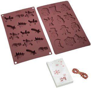 Рождественский набор для выпечки Lurch. 6502665026Этот замечательный набор для выпечки с формами и пакетам. Испеките печенье, положите в симпатичный бумажный пакет и подарите кому-нибудь.Подлинное немецкое качество во всем. Порадуйте себя и своих близких качественным и функциональным подарком. Материал: Силикон; цвет: коричневый; размер: 15x1,5x15