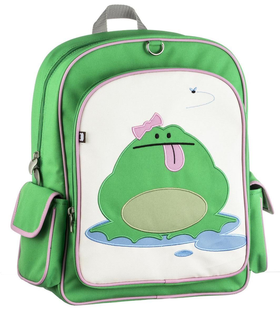 Рюкзак детский Beatrix Big Kid Katarina-Frog, цвет: розовый, молочный, зеленыйAP-7529-20Рюкзак Beatrix Katarina-Frog изготовлен из износоустойчивого нейлона ярких расцветок. Рюкзак оформлен вышитой аппликацией с изображением забавного животного. Рюкзак состоит из вместительного отделения, закрывающегося на застежку-молнию с двумя бегунками. Бегунки застежки дополнены металлическими держателями. На лицевой стороне рюкзака один большой накладной карманом на молнии. Внутри отделения находится дополнительный кармашек на застежке-молнии. На задней стенке рюкзака имеется нашивка, на которой можно указать данные владельца. По бокам рюкзака имеются два накладных кармашка, закрывающихся на клапан с липучкой. Мягкие широкие лямки позволяют легко и быстро отрегулировать рюкзак в соответствии с ростом. Спинка рюкзака и лямки прошиты для дополнительного комфорта при эксплуатации. Рюкзак оснащен удобной текстильной ручкой для переноски в руке. Достаточно вместительный для того, чтобы в них поместились учебники, ноутбук, школьный завтрак и остальной арсенал школьника....