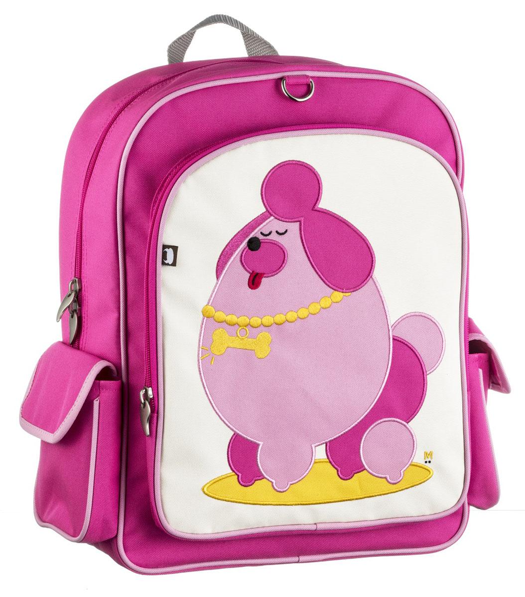 Рюкзак детский Beatrix Big Kid Pocchari-Poodle, цвет: молочный, розовый, желтыйAP-7529-21Рюкзак Beatrix Pocchari-Poodle изготовлен из износоустойчивого нейлона ярких расцветок. Рюкзак оформлен вышитой аппликацией с изображением забавного животного. Рюкзак состоит из вместительного отделения, закрывающегося на застежку-молнию с двумя бегунками. Бегунки застежки дополнены металлическими держателями. На лицевой стороне рюкзака один большой накладной карман на молнии. Внутри отделения находится дополнительный кармашек на застежке-молнии. На задней стенке рюкзака имеется нашивка, на которой можно указать данные владельца. По бокам рюкзака имеются два накладных кармашка, закрывающихся на клапан с липучкой. Мягкие широкие лямки позволяют легко и быстро отрегулировать рюкзак в соответствии с ростом. Спинка рюкзака и лямки прошиты для дополнительного комфорта при эксплуатации. Рюкзак оснащен удобной текстильной ручкой для переноски в руке. Достаточно вместительный для того, чтобы в них поместились учебники, ноутбук, школьный завтрак и остальной арсенал школьника....
