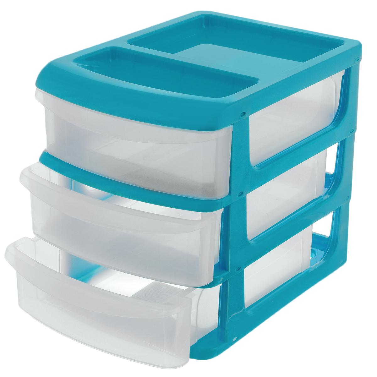 Бокс универсальный Idea, 3 секции, цвет: бирюзовый, 14,5 см х 17 см х 20 смМ 2763Универсальный бокс Idea выполнен из высококачественного пластика и имеет три удобные выдвижные секции. Бокс предназначен для хранения предметов шитья, рукоделия, хобби и всех необходимых мелочей. Изделие позволит компактно хранить вещи, поддерживая порядок и уют в вашем доме. Размер бокса: 14,5 см х 17 см х 20 см. Внутренний размер секции: 14 см х 18,5 см х 5 см.