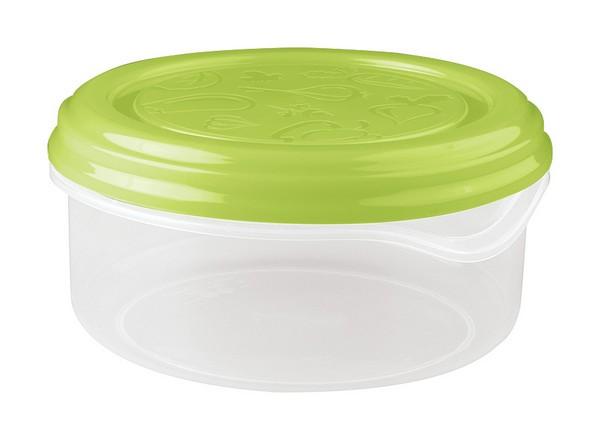 Контейнер Phibo Soft Top, цвет: зеленый, 0,9 лС11018Контейнер Phibo Soft Top круглой формы, изготовленный из прочного пластика, предназначен специально для хранения пищевых продуктов. Крышка легко открывается и плотно закрывается. Контейнер устойчив к воздействию масел и жиров, легко моется. Прозрачные стенки позволяют видеть содержимое. Контейнер имеет возможность хранения продуктов глубокой заморозки, обладает высокой прочностью. Можно мыть в посудомоечной машине. Подходит для использования в микроволновых печах. Диаметр: 14,5 см. Высота (без учета крышки): 6,5 см.