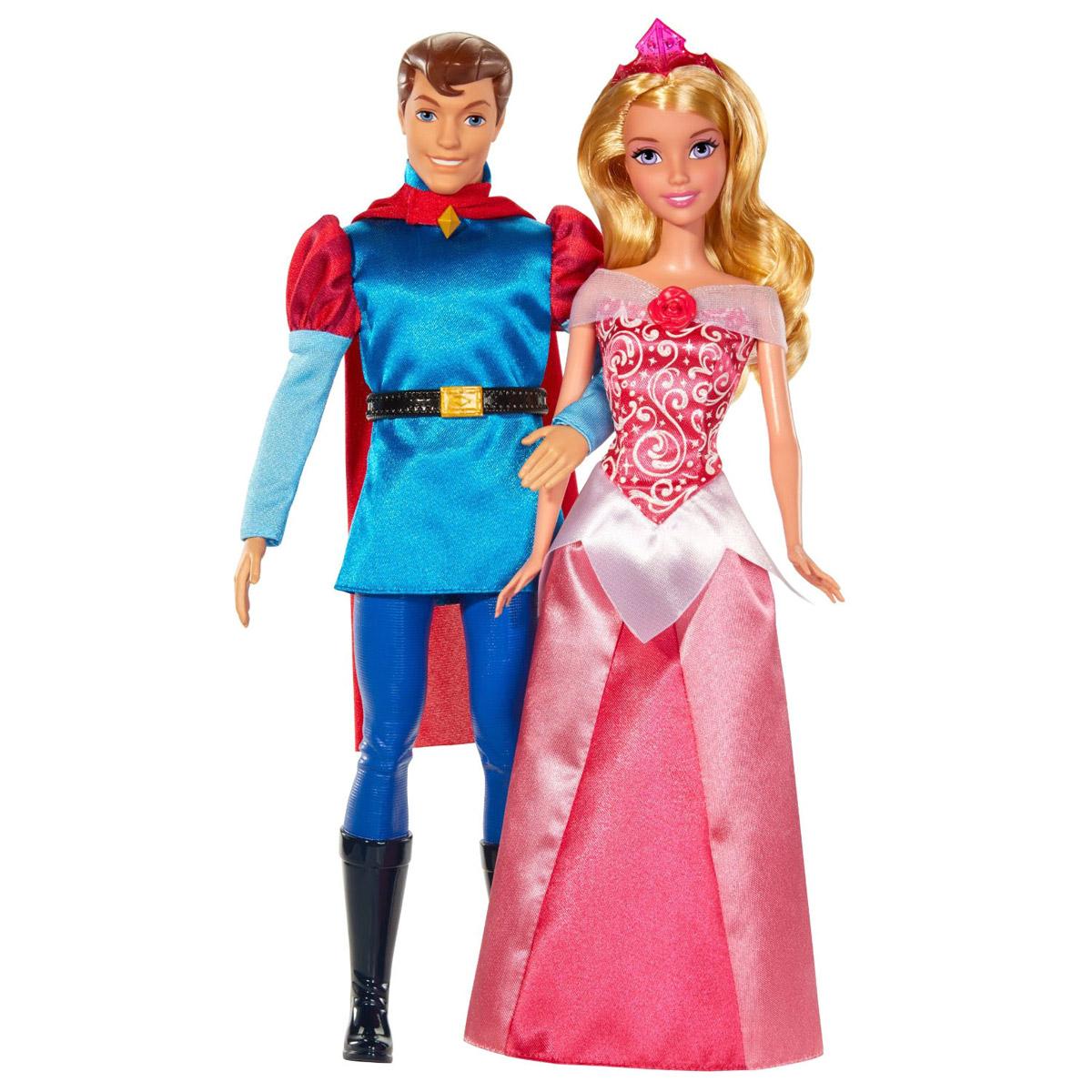 Disney Princess Игровой набор с куклами Спящая красавица и принц ФилиппBMB71Набор кукол Disney Princess Спящая красавица и принц Филипп поможет вашей малышке окунуться в сказочный мир. В набор входят две очаровательные куколки, выполненные в виде главных героев мультфильма Спящая красавица - принцессы Авроры и принца Филиппа. Принцесса одета в шикарное длинное платье, а на голове - очаровательная диадема. Принц одет в красивый костюм с яркой накидкой и ремнем, а на ногах - длинные сапоги. Ваша малышка с удовольствием будет играть с этим набором, проигрывая сюжеты из мультфильма или придумывая различные истории.