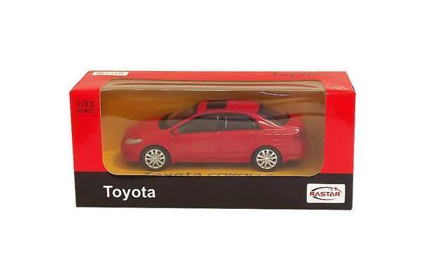 Rastar Радиоуправляемая модель Toyota Corolla36000Машина Toyota COROLLA в металлическом исполнении, инерционная. Машина совсем как настоящая : открывающиеся двери - все это поможет вашему ребенку понять как работает реальная модель. Упаковка: картонная коробка. Размер игрушки: 1:43 к реальному размеру модели.