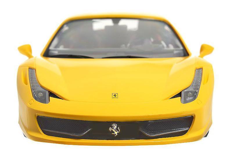 Rastar Радиоуправляемая модель Ferrari 458 Italia цвет желтый масштаб 1:1447300 желтый