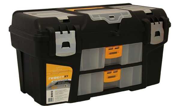 Ящик для инструментов ГЕФЕСТ 21' металл замки (2 консоли/секции). М 2941