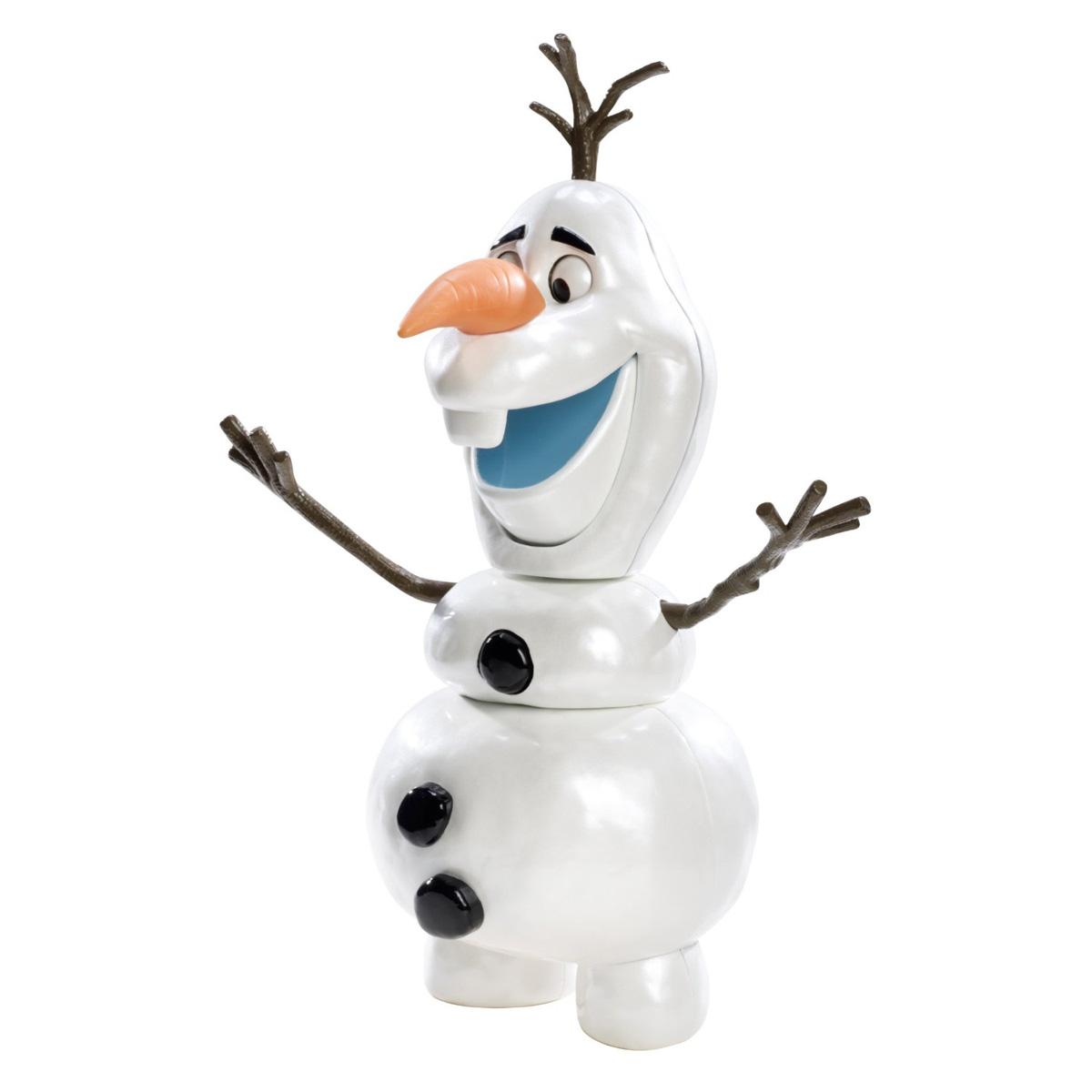 Disney Frozen Кукла-снеговик Холодное сердце ОлафCBH61Кукла-снеговик Disney Frozen Холодное сердце: Олаф станет отличным подарком для поклонника знаменитого мультфильма Холодное сердце. Игрушка выполнена из прочного безопасного пластика в виде забавного снеговика Олафа. Игрушка в точности копирует черты оригинального диснеевского персонажа. Голова Олафа отделяется от туловища, а выражение его лица может меняться, если нажать веточку на его голове: снеговик закроет и тут же откроет рот, а его глазки изменят выражение. С такой игрушкой ваш ребенок весело проведет время, играя и выдумывая различные истории.