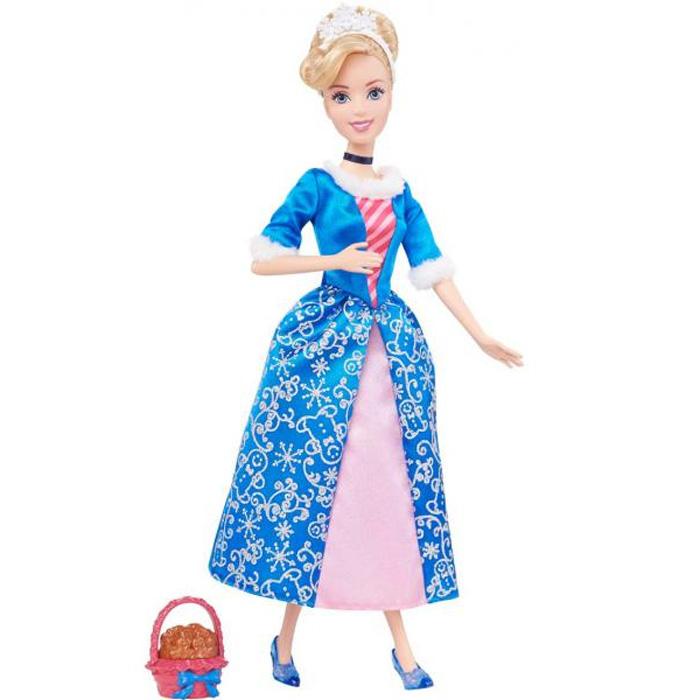 Disney Princess Кукла Принцесса Золушка цвет платья розовый синийBDJ10(BDJ15/BDJ16)Кукла Disney Princess Принцесса Золушка поможет вашей малышке окунуться в сказочный мир. Куколка выполнена в виде главной героини диснеевского мультфильма Золушка. Принцесса одета в красивое платье, украшенное меховыми опушками, а на ногах - туфельки на каблуках. На длинных светлых волосах куколки красуется диадема. Ручки, ножки и голова куколки подвижны. В комплект входит корзинка, наполненная печеньем с карамельным запахом. Ваша малышка с удовольствием будет играть с этой куколкой, проигрывая сюжеты из мультфильма или придумывая различные истории.