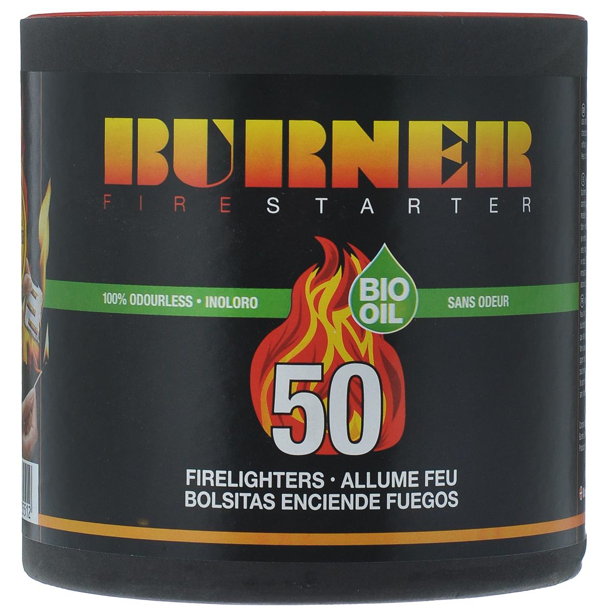 """Средство для розжига """"Burner"""", в бочонке, 50 пакетов"""