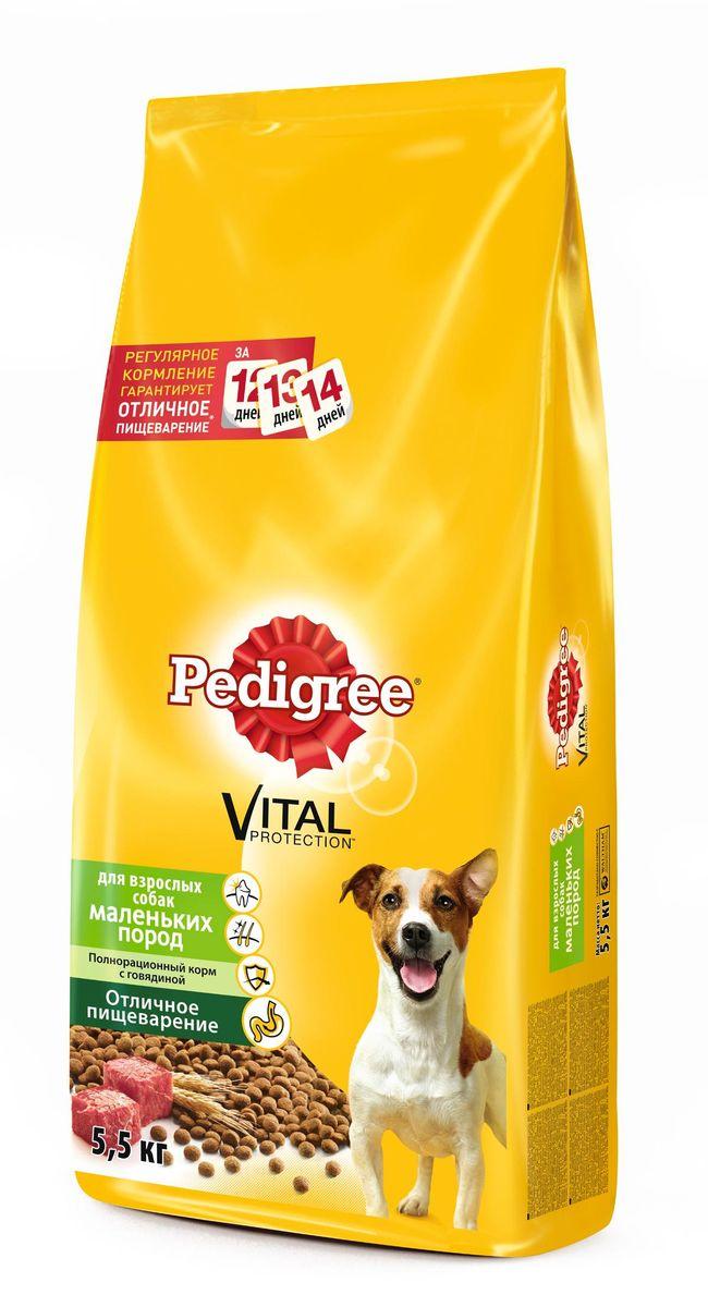 Корм сухой Pedigree для взрослых собак маленьких пород, с говядиной, 5,5 кг39843Сухой корм Pedigree для взрослых собак весом меньше 14 кг - это полнорационный корм с говядиной, который создан с учетом потребностей взрослых собак маленьких и карликовых пород. Он состоит из качественных и натуральных ингредиентов: мяса, овощей, злаков. Корм способствует здоровому росту и гармоничному развитию вашего питомца. Он создан с учетом особенностей пищеварения собаки, легко усваивается и обеспечивает правильную работу желудочно-кишечного тракта. Состав: кукуруза, рис, пшеница, куриная мука, мясная мука (в том числе говядина минимум 4%), свекольный жом, подсолнечное масло, жир животный, пивные дрожжи, витамины и минералы. Пищевая ценность (100 г): белки 21 г, жиры 14 г, зола 7 г, клетчатка 4 г, влажность не более 10 г, кальций 1,3 г, фосфор 0,8 г, натрий 0,3 г, калий 0,58 г, магний 0,1 г, цинк 20 г, медь 1,5 г, витамин А 1500 МЕ, витамин Е 20 мг, витамин D3 120 МЕ, витамины B1, B2, B4, B5, B12, ниацин, омега-6, омега-3, полиненасыщенные жирные...