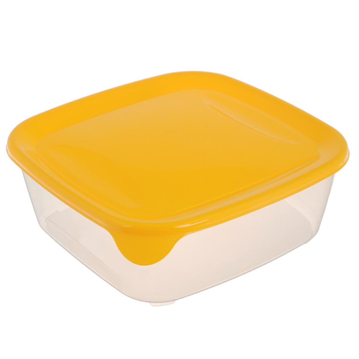 Емкость для заморозки и СВЧ Curver Fresh & Go, цвет: желтый, 2,9 л00562-007-01Квадратная емкость для заморозки и СВЧ Curver Fresh & Go изготовлена из высококачественного пищевого пластика (BPA free), который выдерживает температуру от -40°С до +100°С. Стенки емкости прозрачные, а крышка цветная. Она плотно закрывается, дольше сохраняя продукты свежими и вкусными. Емкость удобно брать с собой на работу, учебу, пикник или просто использовать для хранения пищи в холодильнике. Можно использовать в микроволновой печи и для заморозки в морозильной камере. Можно мыть в посудомоечной машине.