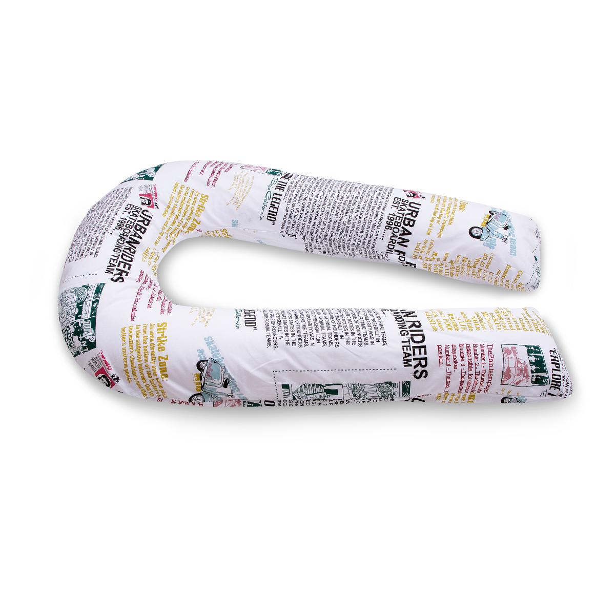 БИО-Подушка для беременных U maxi, чехол: газетаРU340K7Био-подушка для беременных в форме подковы абсолютно безопасна и гипоаллергенна. Поможет будущей маме комфортно разместиться на любом сроке беременности. Она незаменима для сна, отдыха и кормления малыша. Удлиненные ножки помогут занять удобное положение женщине любого роста, в ширину же подушка, наоборот, сделана максимально компактной и занимает минимум места на кровати. Округлые и симметричные формы создают гармонию и уют. Мягкий наполнитель из тонкого полиэфирного волокна (микроволокно) гигиеничен и прост в уходе (машинная стирка). Подушка мягкая и комфортная, равномерно наполнена. Вы можете сгибать и скручивать подушку, чтобы принять удобную позу, потом подушка вернет свою первоначальную форму. Чехол (наволочка) из хлопка джерси легко снимается и надевается на подушку, не мнется, не требует деликатного обращения. В комплекте предусмотрена сумка-чехол для бережного хранения подушки. Рекомендации по уходу: ручная или машинная стирка при начальной...