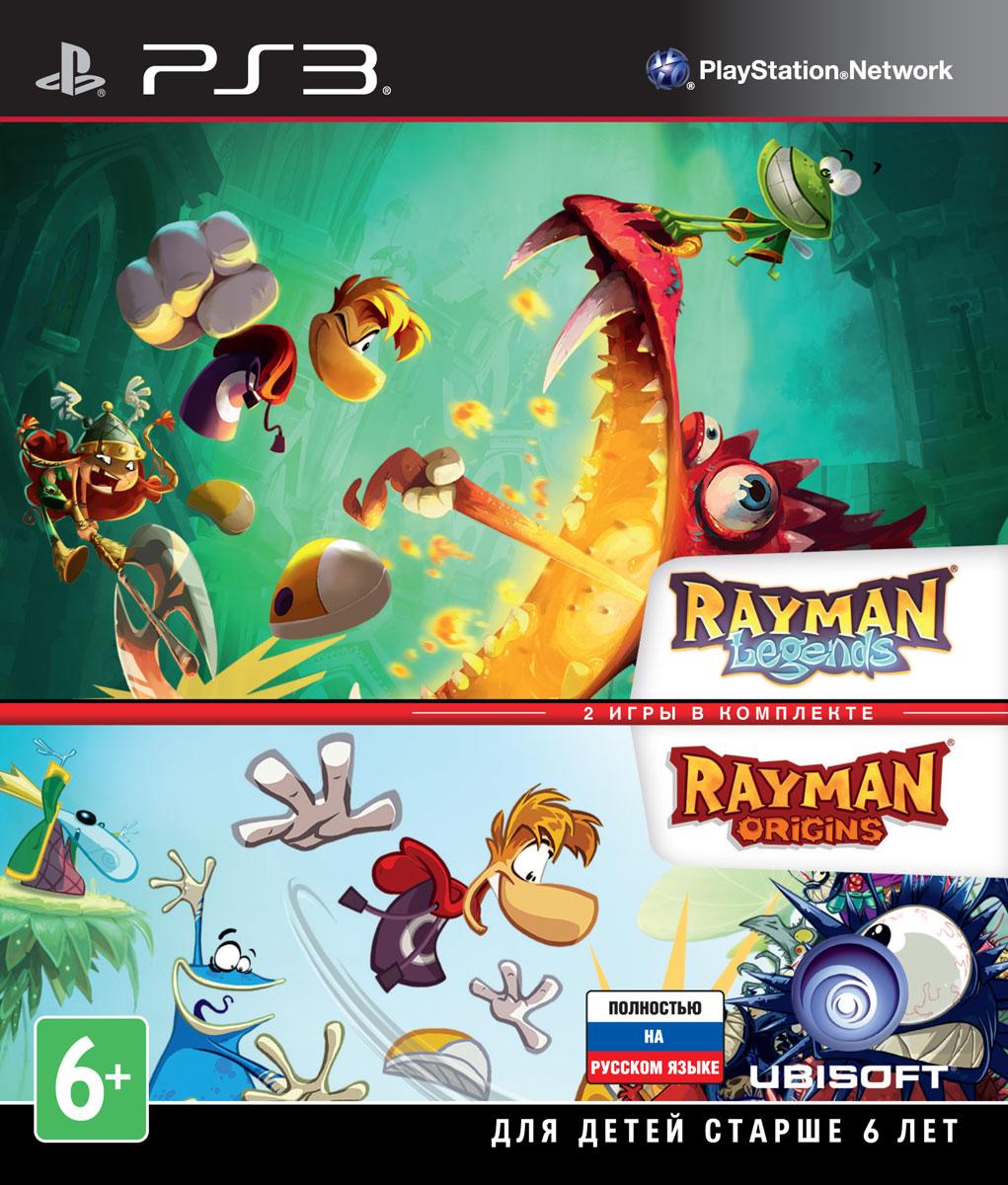 Комплект Rayman Legends + Rayman OriginsRayman Legends Новые приключения Рэймана и его друзей от легендарного Мишеля Ансельма и звездной команды разработчиков! Наш обаятельный герой со своими верными друзьями отправляется на прогулку в волшебный лес. Там они случайно натыкаются на странную палатку, где находят множество интереснейших картин. И все бы ничего, если бы одна из них, с изображением средневековых мотивов, не засосала бы всю компанию в свой мир… Вот тут-то и начинаются приключения наших героев! Чтобы узнать секреты каждой из картин, преодолеть все препятствия и победить всех сказочных чудищ Рэйману, Глобоксу и Трикси понадобится ваша помощь. Навыки, смекалка и скорость реакции - вот, что потребуется, чтобы исследовать волшебный мир средневековья. Пройдите музыкальные уровни и 3D-бои с боссами на улучшенном движке UbiArt, в одиночку и в кооперативном режиме - в новых приключениях с неугомонным Рэйманом! Особенности игры: Новые испытания: соревнуйтесь с...