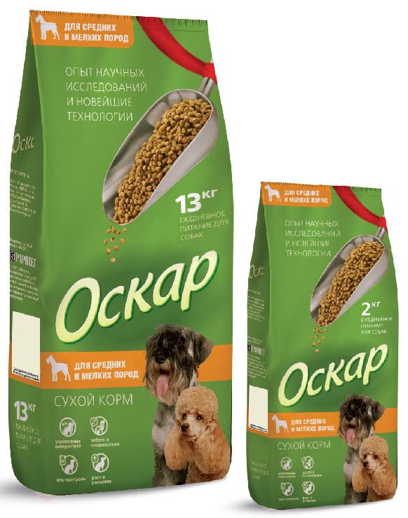 Корм сухой Оскар для собак средних и малых пород, 13 кг2121Сухой корм Оскар является вкусным и полезным питанием для собак средних и мелких пород. Он производится по научно обоснованной рецептуре, обеспечивающей оптимальный баланс питательных веществ, витаминов и микроэлементов, необходимых вашему питомцу. Особенности сухого корма Оскар: - укрепляет и поддерживает иммунную систему; - обеспечивает правильное пищеварение; - способствует росту здоровой, густой и блестящей шерсти; - укрепляет костную систему и суставы; - помогает поддерживать оптимальный вес собаки; - уменьшает образование зубного камня. Корм Оскар изготавливается из натуральных продуктов высшего качества, не содержит красителей и вкусовых добавок, сочетает в себе все необходимые для здоровья и нормального развития вашего любимца витамины и минеральные вещества. Характеристики: Состав: злаки, пшеничные отруби, мясо и продукты животного происхождения, экстракт белка растительного происхождения,...