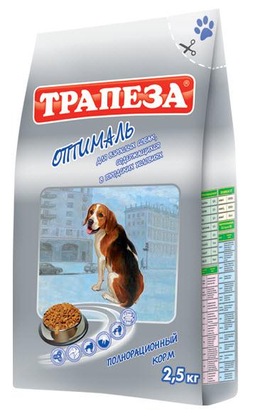 Корм сухой Трапеза Оптималь, для взрослых собак, содержащихся в городских условиях, 2,5 кг29751Сухой корм Трапеза Оптималь является вкусным и полезным питанием для взрослых собак, содержащихся в городских квартирах и ведущих малоактивных образ жизни. Рацион корма Трапеза Оптималь разработан с учетом специфических потребностей собак данной группы на основе исследований в области диетологии и питания собак. Рецепт корма сбалансирован по содержанию протеина, животных и растительных жиров, что обеспечивает высокую питательную ценность корма при контроле энергетического потенциала; содержит оптимальное количество клетчатки, необходимой для здорового пищеварения. Корма Трапеза снижают риск возникновения аллергических реакций благодаря отсутствию искусственных красителей и антиоксидантным свойствам витамина Е - натурального консерванта. Характеристики: Состав: говяжий жир, куриный жир, рыбий жир, говяжий бифштекс, мясо домашней птицы, экстракт морских водорослей, ливер, сердце, печень, льняное и растительное масло, кукурузная мука, пивные дрожжи, пшеничное...