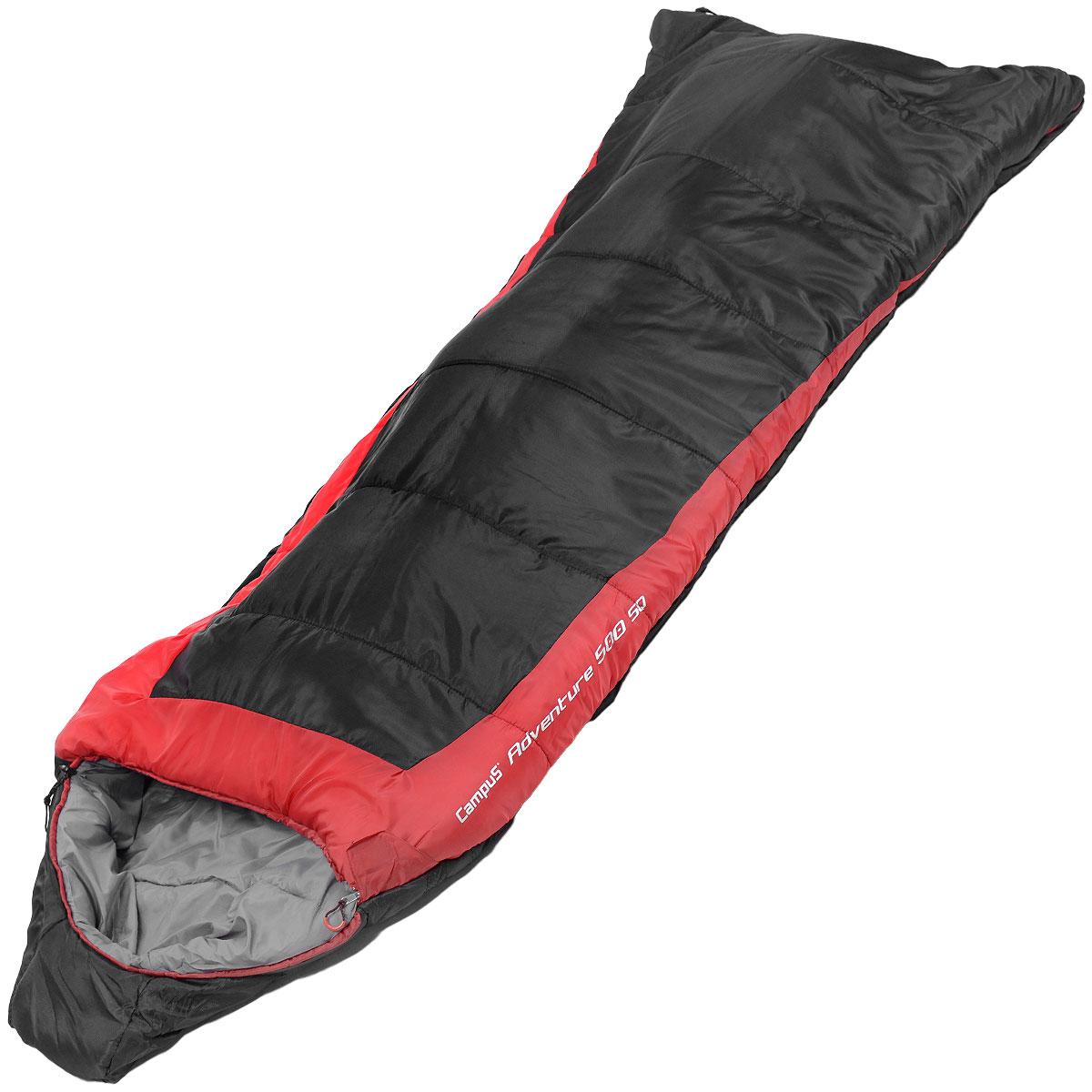 Спальный мешок Campus Adventure 500SQ, правосторонняя молния, 240 см х 95 см10701025Данная модель предусмотрена для холодного времени года, так как рассчитана на температуру до -17° C. Слой синтетического утеплителя контролирует терморегуляцию внутри спального мешка, поддерживая в нем необходимую температуру. Коконообразная анатомическая форма обеспечивает плотное прилегание спального мешка, в то же время внутри него предусмотрено достаточно свободного места для комфортного сна. В сложенном виде мешок занимает очень мало места и весит совсем не много. Тип спального мешка: одеяло с капюшоном. Утеплитель: 6D BLOCK, HOLLOWFIBER 500 г/м2. Внешний материал: нейлон. Внутренний материал: полиэстер.