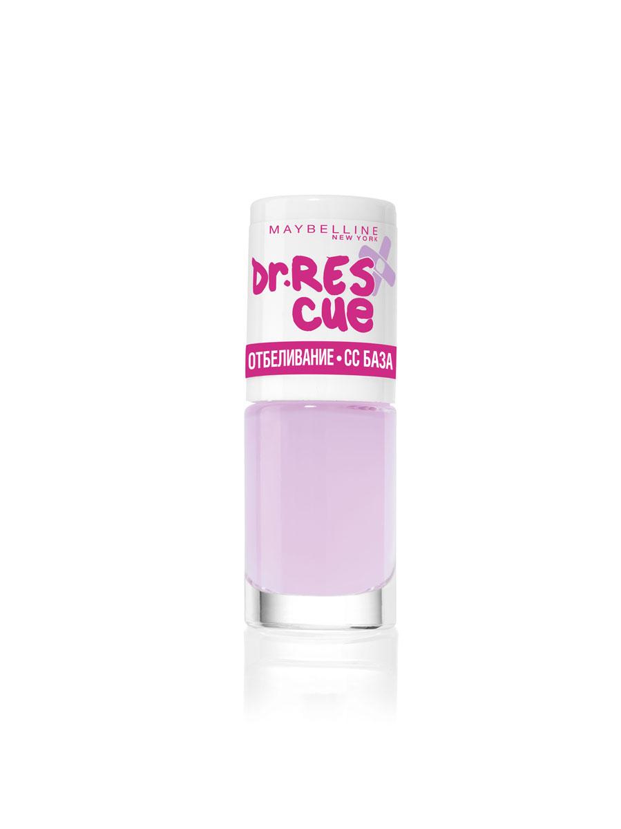 Maybelline New York Уход за ногтями DR. RESCUE, отбеливание - СС базовое покрытие, осветляющий, 7 млB2527900Осветляющее базовое покрытие корректирует цвет ногтей и обеспечивает равномерное отбеливание ногтевой пластины.