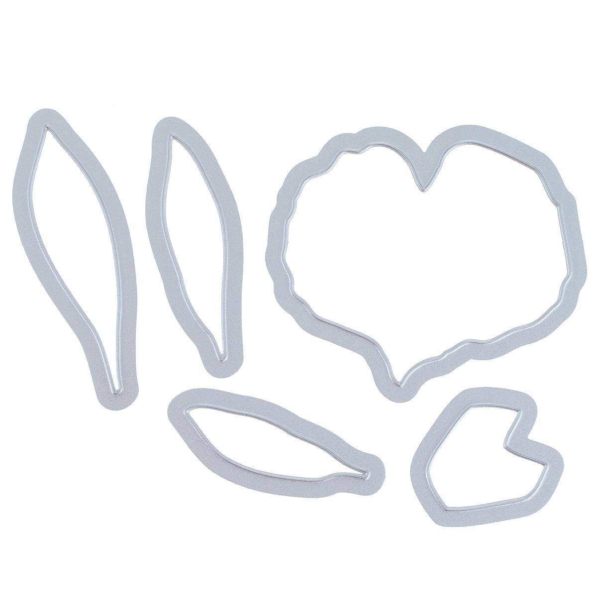 Форма для вырубки Sizzix Цветок антуриум, 5 шт658852С помощью металлических форм для вырубки Sizzix Цветок антуриум можно создать красивую фигурку в виде цветка. Формы для вырубки - это определенной формы ножи, обеспечивающие форму вырубной фигуры. Они режут бумагу, картон и ткань. Формы станут незаменимыми при создании скрап-страничек, открыток и конвертов с резными декоративными фигурками и ажурными украшениями. Формы для вырубки разнообразят вашу работу и добавят вдохновения для новых идей. Формы подходят для машинки для вырубки. Количество форм в наборе: 5 шт. Максимальный размер формы: 7 см х 6,2 см. Минимальный размер формы: 3,1 см х 3 см.