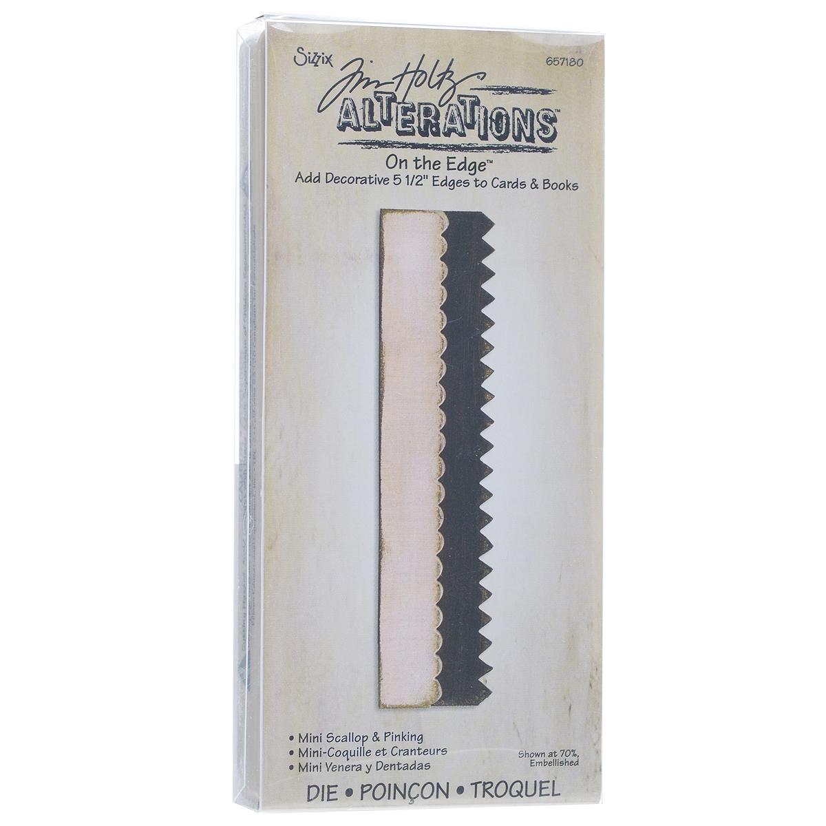 Форма для вырубки края Sizzix Кружевной и зубчатый края657180С помощью формы для вырубки Sizzix Кружевной и зубчатый края, изготовленной из пластика и металла, можно создать красивый контур у вырубной фигуры. Форма для вырубки - это определенной формы нож, обеспечивающий форму вырубной фигуры. Он режет бумагу, картон и ткань. Форма станет незаменимой при создании скрап-страничек, открыток и конвертов с резными декоративными фигурками и ажурными украшениями. Форма для вырубки разнообразит вашу работу и добавит вдохновения для новых идей. Форма подходит для машинки для вырубки. Максимальная длина края для обработки: 14 см. Размер формы: 15 см х 7 см х 1,7 см.
