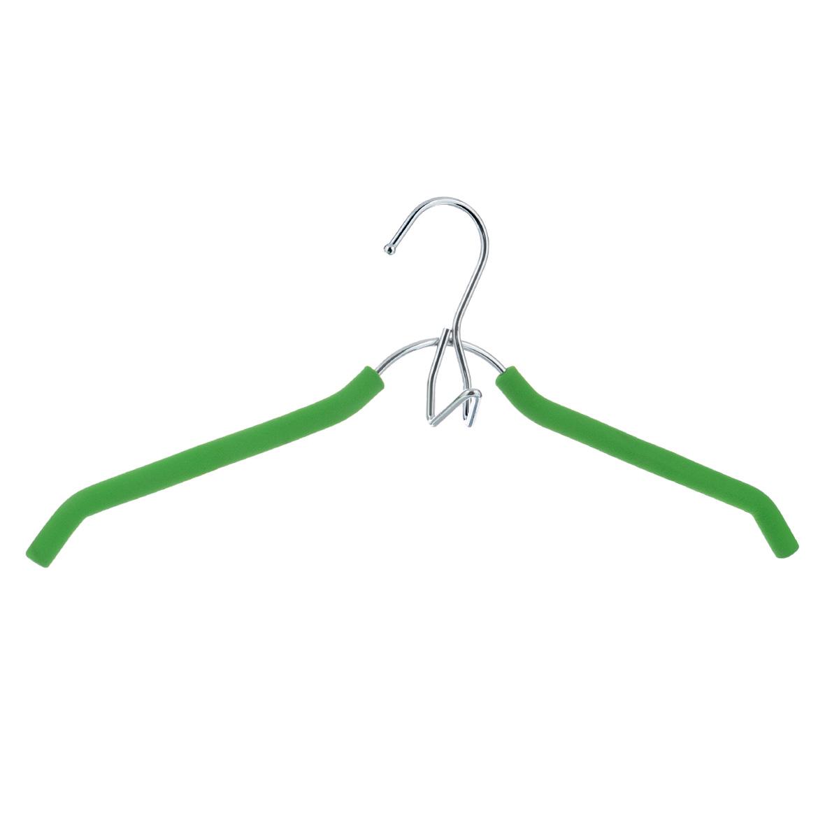 Вешалка-плечики Flatel, с крючком, цвет: зеленыйFHM172GВешалка-плечики Flatel, выполненная из металла, идеально подойдет для разного вида одежды. Она оснащена надежным крючком и отделкой из мягкой резины, которая предотвратит соскальзывание одежды. Вешалка - это незаменимая вещь для того, чтобы ваша одежда всегда оставалась в хорошем состоянии.