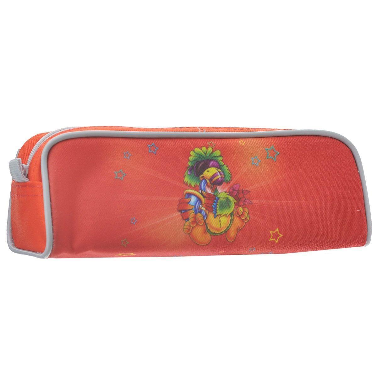 Пенал на молнии JOYFUL BIRDIE, без наполнения, 1 отделение, цвет: красный2920/TGУдобный пенал для школьных канцелярских принадлежностей. Имеет одно отделение и надежную застежку-молнию. Яркий красочный дизайн. Отличное сочетание цены и качества - именно то что вам нужно.