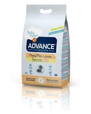 Корм сухой Advance, для щенков малых пород, 3 кг501311Полнорационный сухой корм для щенков мелких пород Advance Mini Puppy содержит оптимальное соотношение белков и жиров, которое обеспечивает растущий организм щенка необходимым количеством энергии. Правильно подобранное соотношение кальция и фосфора укрепляют кости и зубы вашего маленького любимца. Жирные кислоты Омега3 и Омега6 поддерживают иммунитет, красоту и здоровье кожи и шерсти. Также этот корм рекомендован беременным и кормящим собакам, так как во время беременности и лактации животное тратит очень много калорий. Сухой корм Advance - это высококачественная продукция, основанная на последних разработках в области диетологии и питания, чтобы поддерживать вашего любимца в отличном состоянии. Advance - полностью сбалансированный корм, который обеспечивает прекрасное самочувствие животного, как внутри, так и снаружи. Состав: курица (20%), рис (17%), белки мяса птицы, маисовая мука, пшеница, маис, жиры животного происхождения, витамин Е, гидролизат мяса...