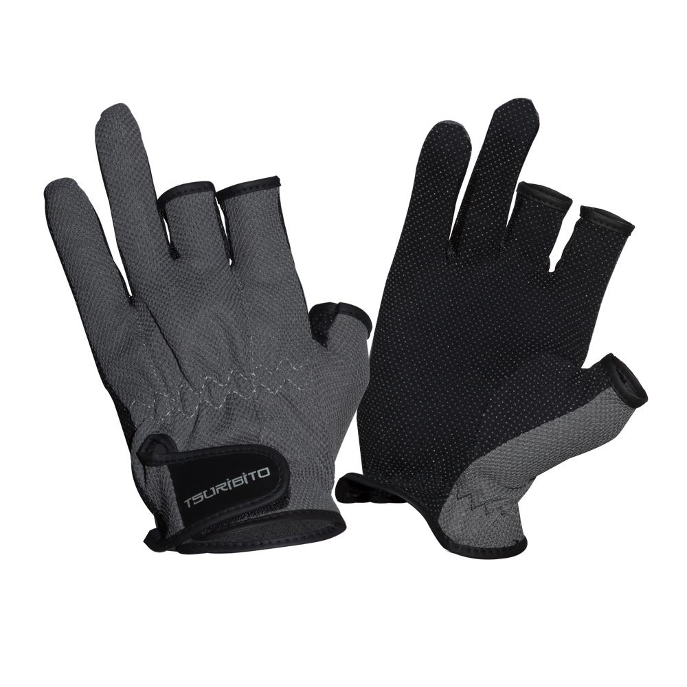 Перчатки рыболовные Tsuribito SFG-8016, цвет: темно-серый81528Стильные и практичные рыболовные перчатки универсального размера Tsuribito SFG-8016, изготовленные из полиэстера, незаменимы в промозглую и ветреную погоду. Эргономичный крой перчаток и использование современных материалов позволило добиться их великолепной посадки на руке. Они прекрасно защищают от переохлаждения и обветривания, продлевая время нахождения на рыбалке в холодный и сырой день. Самые легкие перчатки Tsuribito SFG-8016 рассчитаны на относительно высокую температуру. Комфортные и удобные при носке, эти перчатки являются многофункциональными и будут востребованы не только во время рыбной ловли.