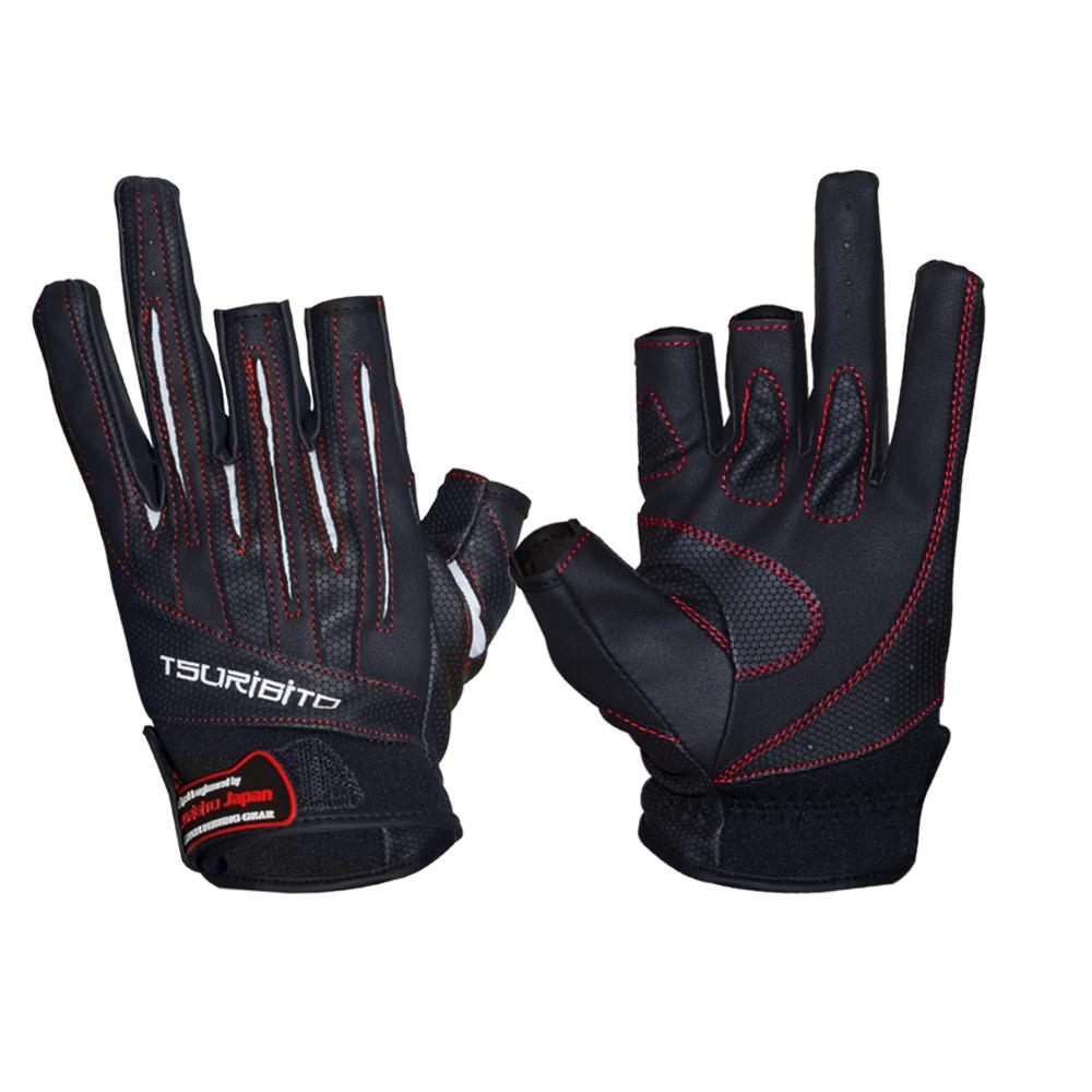 Перчатки рыболовные Tsuribito LFG-110, цвет: черный, белый81532Стильные и практичные рыболовные перчатки универсального размера Tsuribito LFG-110, изготовленные из искусственной кожи и лайкры, незаменимы в промозглую и ветреную погоду. Эргономичный крой перчаток и использование современных материалов позволило добиться их великолепной посадки на руке. Они прекрасно защищают от переохлаждения и обветривания, продлевая время нахождения на рыбалке в холодный и сырой день. Самые легкие перчатки Tsuribito LFG-110 рассчитаны на относительно высокую температуру. Комфортные и удобные при носке, эти перчатки являются многофункциональными и будут востребованы не только во время рыбной ловли.