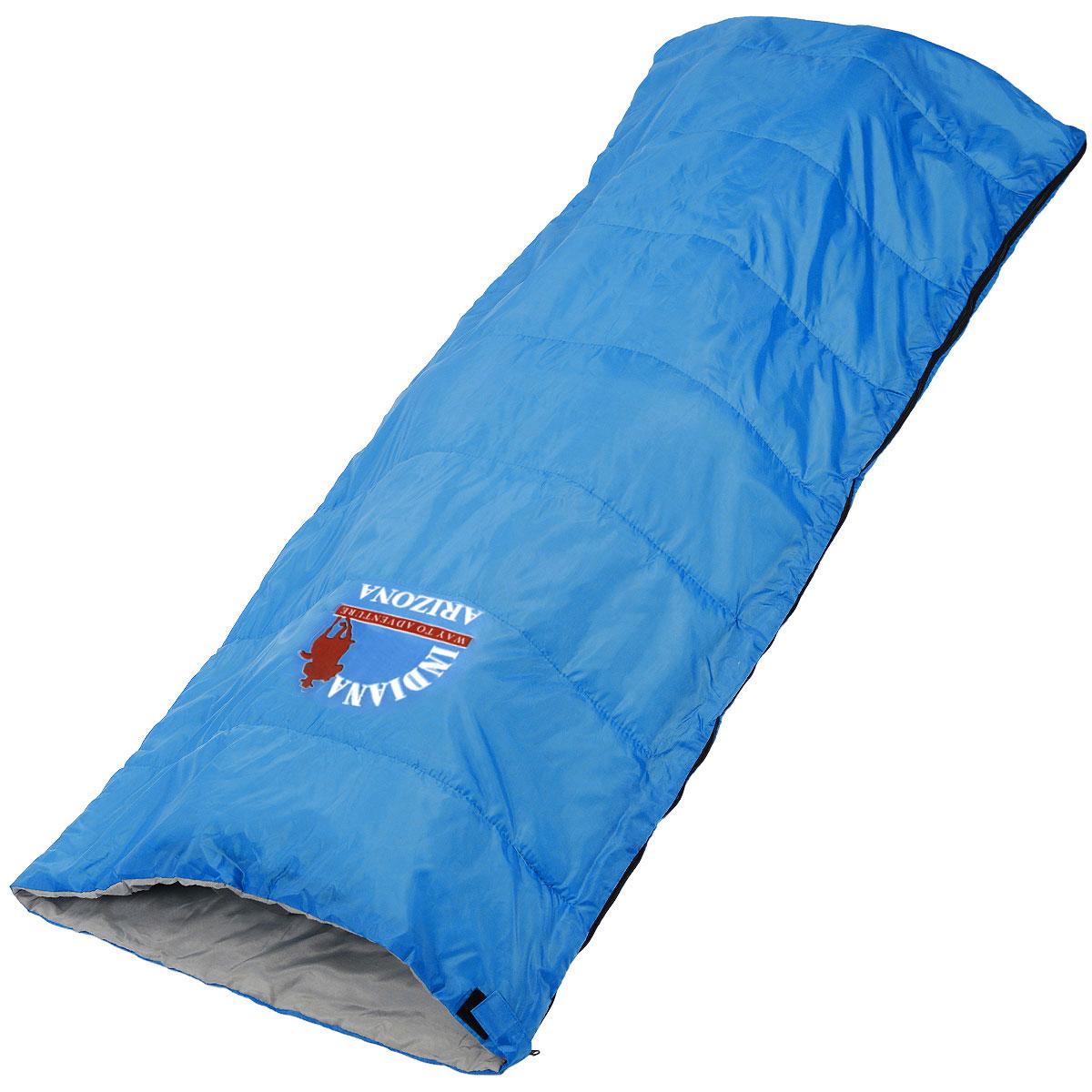 Спальный мешок-одеяло Indiana Arizona, 195 см х 85 см360700032Спальный мешок Indiana Arizona предусмотрен как для лета, так и для прохладного времени года, так как рассчитан на минимальную температуру -1° C. Его можно использовать не только во время отдыха, но и для повседневной жизни на даче или дома.