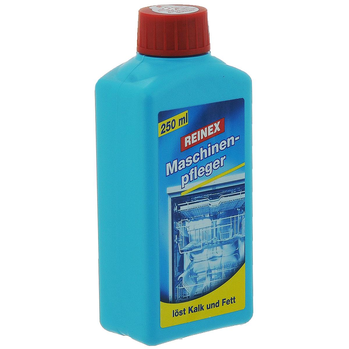 Средство для ухода за посудомоечными машинами Reinex, 250 мл13422Средство для ухода за посудомоечными машинами Reinex эффективно удаляет накипь, известь, загрязнения и жир в посудомоечных машинах. Рекомендовано для всех типов посудомоечных машин. Применять в пустой ПММ с очищенными фильтрами. Состав: >5% неионогенные ПАВ, экстракт лимона. Товар сертифицирован.