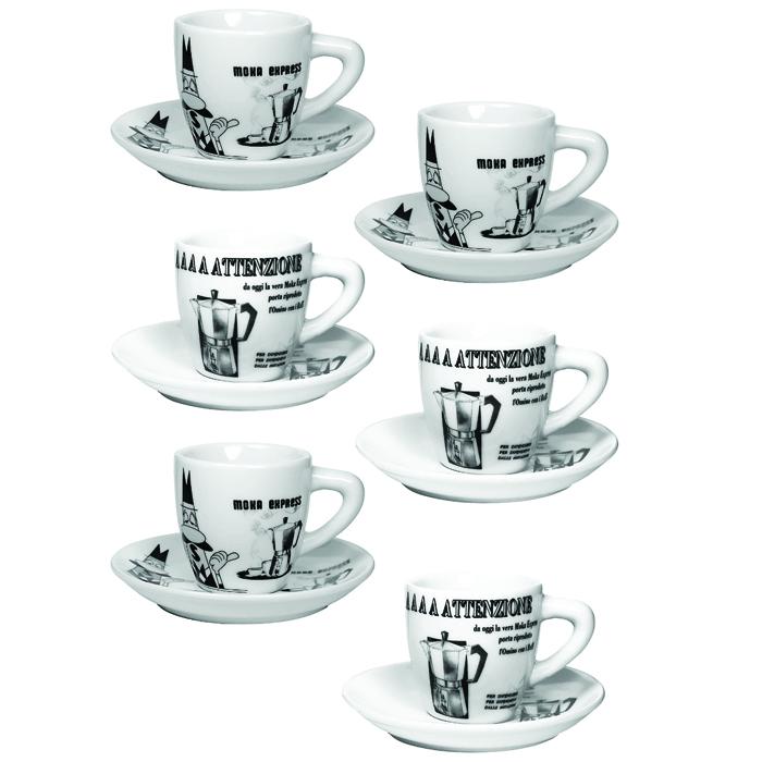 Набор кофейных чашек с блюдцами Bialetti Set Carosello 6 пар133Набор кофейных чашек с блюдцами Bialetti Set Carosello 6 пар