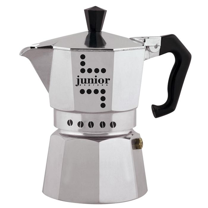Гейзерная кофеварка Junior, 6 порций, коробка33Гейзерная кофеварка Junior, 6 порций, коробка