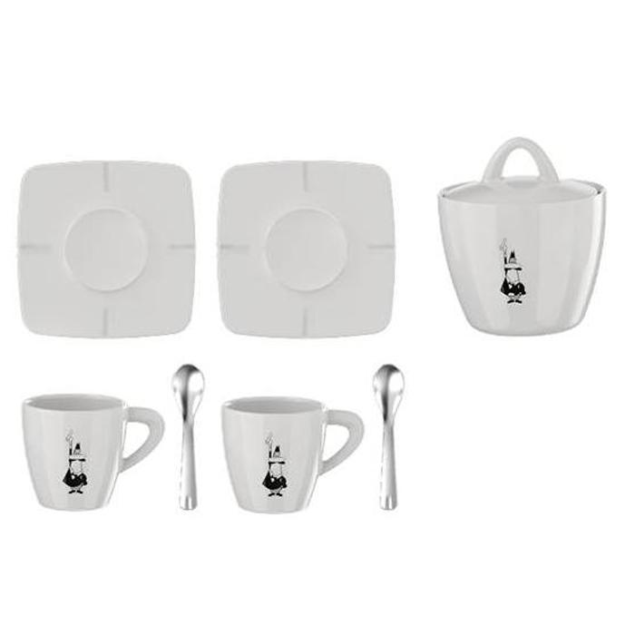 Набор посуды Bialetti Porcelain gift box 7 pcs98920080Набор посуды Bialetti Porcelain gift box 7 pcs Объем чашек 70 мл.