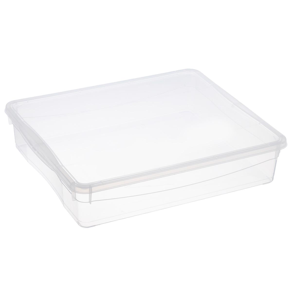 Ящик универсальный Econova Кристалл, цвет: прозрачный, 9 лС12494Универсальный ящик Econova Кристалл выполнен из прочного пластика и предназначен для хранения различных предметов. Изделие оснащено удобной крышкой. Очень функциональный и вместительный, такой ящик будет очень полезен для хранения вещей или продуктов, а также защитит их от пыли и грязи.