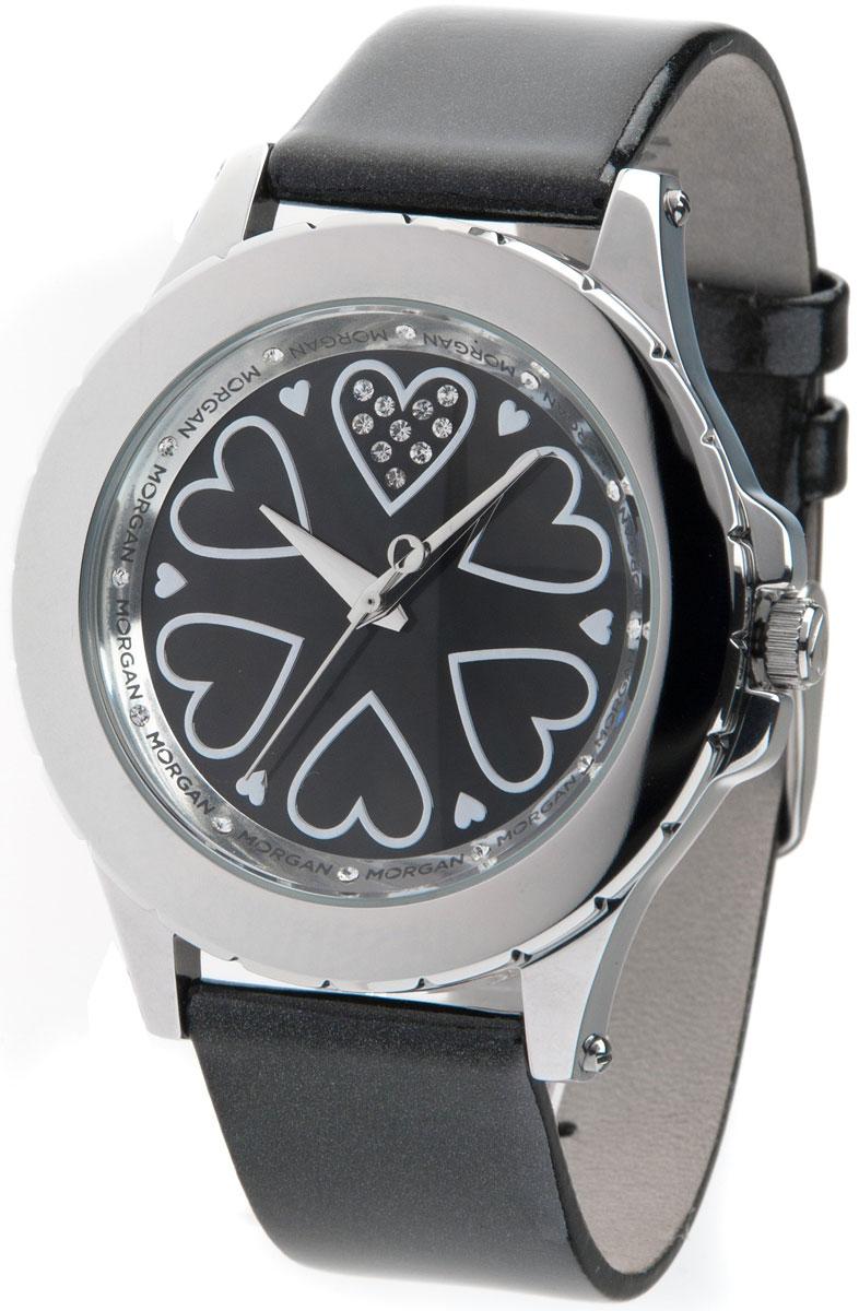 Наручные часы женские Morgan, цвет: черный, серебристый. M1128BBRM1128BBRЭлегантные наручные часы Morgan выполнены из нержавеющей стали с IP-покрытием серебристого цвета, минерального стекла. Циферблат изделия дополнен символикой бренда, чешскими кристаллами. Часы оснащены механизмом Miyota с тремя стрелками, полированным корпусом, устойчивым к царапинам минеральным стеклом, степенью влагозащиты 3atm. Изделие дополнено ремешком из натуральной лакированной кожи. Ремень оснащен застежкой-пряжкой с возможностью регулировать длину изделия. Часы поставляются в фирменной упаковке. Стильные часы подчеркнут изящество женской руки и отменное чувство стиля их обладательницы.