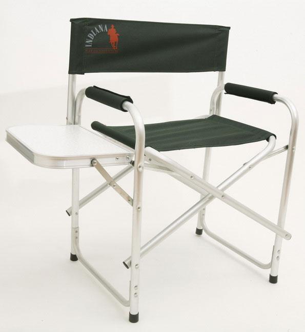 Кресло складное Indiana INDI-025T, с боковым столиком, 44 см х 62 см х 80 см361100005Складное кресло Indiana INDI-025T - идеальный вариант для дачников и рыболовов, прекрасно подходит для кемпинга, пикников и отдыха на природе. Каркас кресла выполнен из алюминиевой трубы. Тканевые элементы кресла изготовлены из стойкого к ультрафиолетовому излучению материала - плотного полиэстера 600D. Мягкие профилированные подлокотники оснащены защитным чехлом. Сбоку имеется откидной столик. Конструкция ножек с поперечной трубой придает дополнительную устойчивость креслу, препятствует его проваливанию в песок или рыхлую землю. Кресло легко складывается и раскладывается. В сложенном состоянии занимает минимум места, что очень удобно при хранении и транспортировке. Максимальная нагрузка: 120 кг. Размер кресла (в разобранном виде): 44 см х 62 см х 80 см. Размер кресла (в собранном виде): 46 см х 79 см х 10 см. Размер откидного столика: 37 см х 25 см.