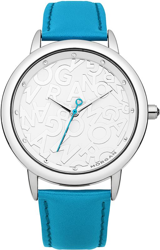 Наручные часы женские Morgan, цвет: голубой, белый. M1230UM1230UЭлегантные наручные часы Morgan выполнены из нержавеющей стали с IP-покрытием серебристого цвета, минерального стекла и натуральной кожи. Циферблат изделия оформлен символикой бренда и дополнен чешскими кристаллами. Часы оснащены механизмом Miyota с тремя стрелками, полированным корпусом, устойчивым к царапинам минеральным стеклом, степенью водозащиты 3atm. Изделие дополнено браслетом из натуральной кожи. Браслет оснащен застежкой-пряжкой с возможностью регулировать длину изделия. Часы поставляются в фирменной упаковке. Стильные часы подчеркнут изящество женской руки и отменное чувство стиля их обладательницы.