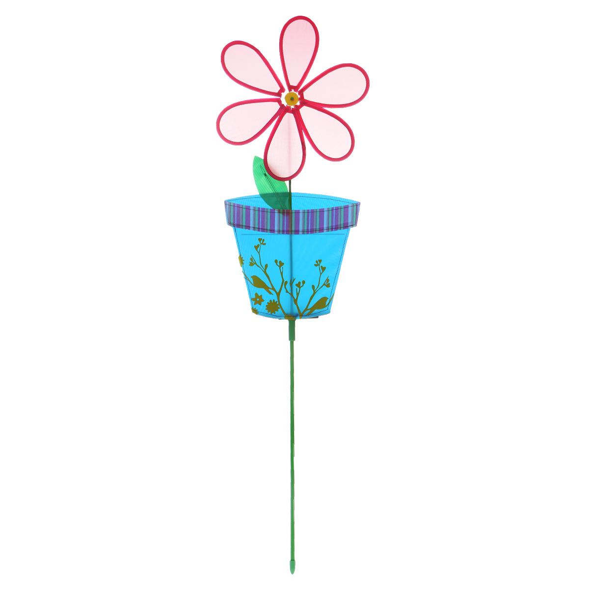 Фигура-вертушка декоративная Village People Цветок в горшочке, цвет: красный, высота 114 см. 6692466924_3Декоративная фигура-вертушка Village People Цветок в горшочке - это не только любимая всеми игрушка, но и замечательный способ отпугнуть птиц с грядок. А за счёт яркого дизайна ландшафт сада станет еще привлекательнее. Диаметр цветка: 28 см. Размер фигуры-вертушки: 114 см х 28 см х 2,5 см