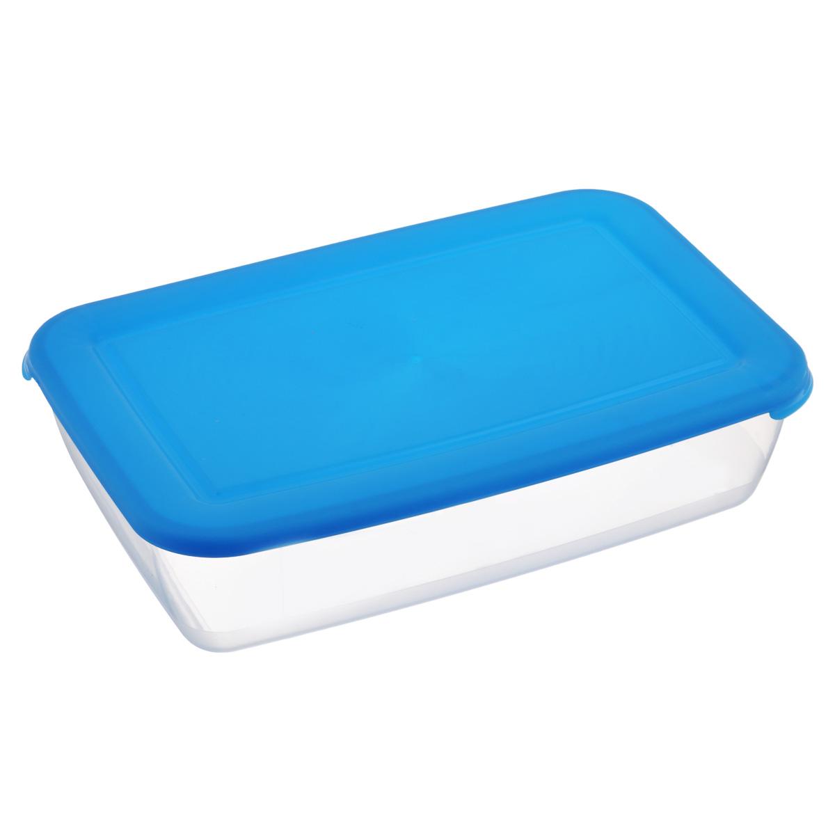 Контейнер Полимербыт Лайт, цвет: голубой, 3 лС554Контейнер Лайт изготовлен из высококачественного пищевого прозрачного пластика и оснащен крышкой. Подходит для использования в микроволновой печи без крышки (до +120°С), для заморозки при минимальной температуре -40°С. Можно мыть в посудомоечной машине.