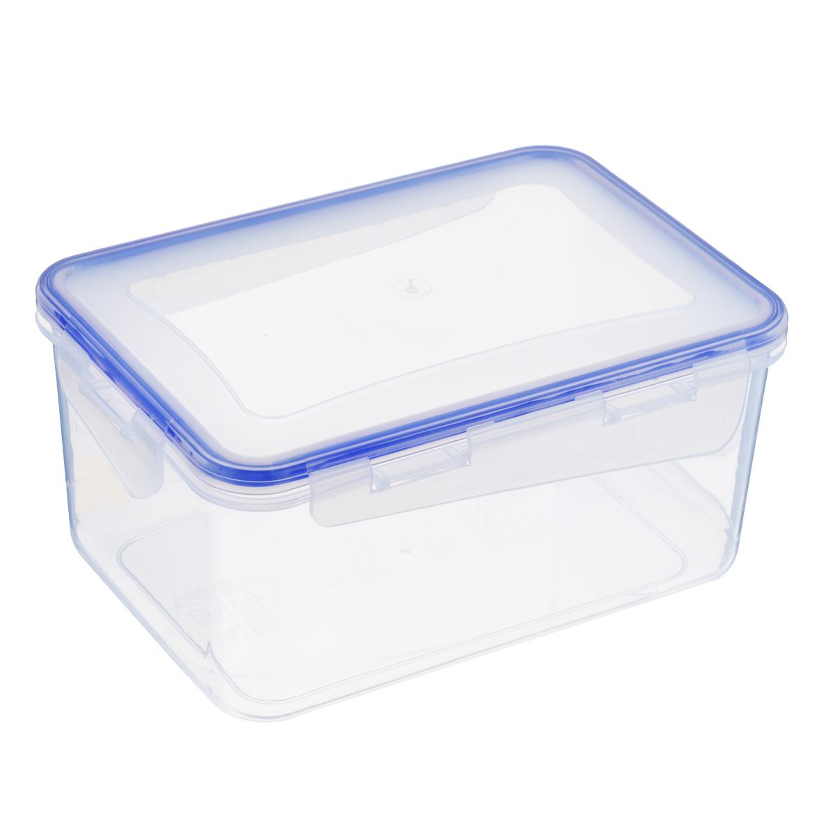 Контейнер Алеана для хранения продуктов, цвет: прозрачный,синий 2,5 л167043Контейнер Алеана выполнен из пищевого пластика. Он предназначен для хранения продуктов в холодильнике и для разогревания пищи в микроволновой печи. При разогревании пищи в микроволновой печи необходимо открыть крышку контейнера. Рекомендовано использовать при t от -20° до +100° Контейнер снабжен эргономичной плотно закрывающейся крышкой со специальными боковыми фиксаторами. С контейнером Алеана ваши продукты сохранятся идеально!